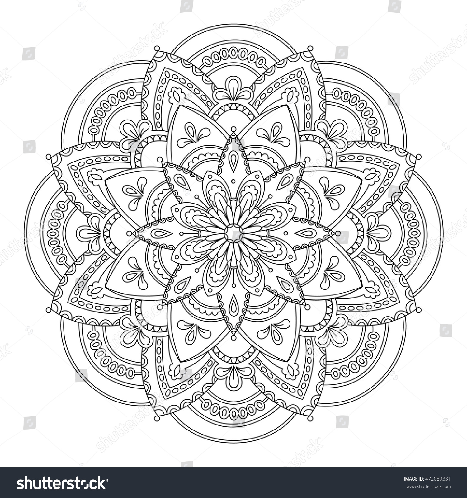 Perfect For Oriental Decoration Yoga Logo Coloring Books