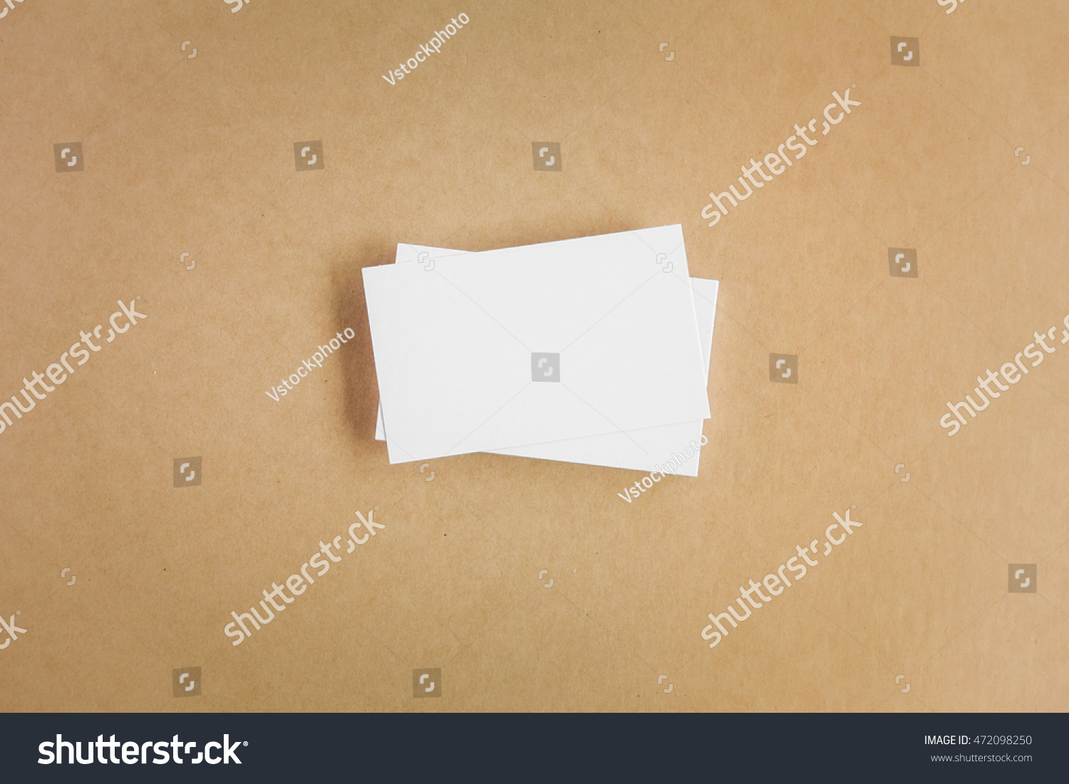 Blank Business Cards On Recycled Paper Stock Photo (Safe to Use ...