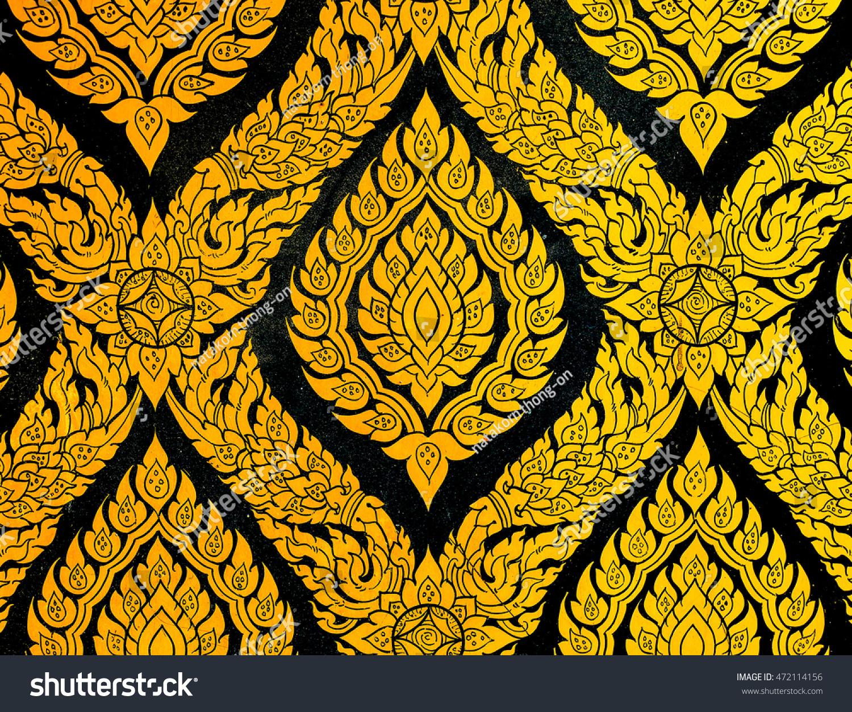 Royalty-free Thailand gold filigree art #472114156 Stock Photo ...