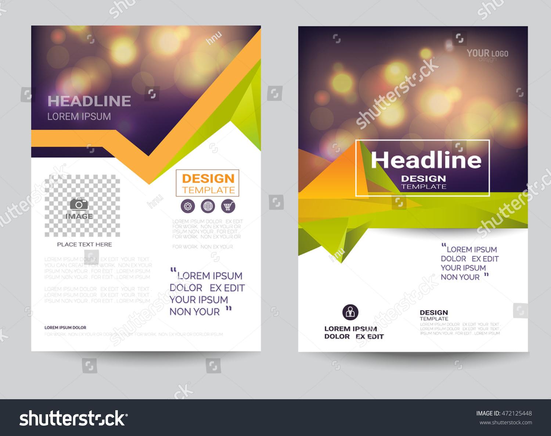 Corporate Brochure Flyer Design Layout Template Stock Vector