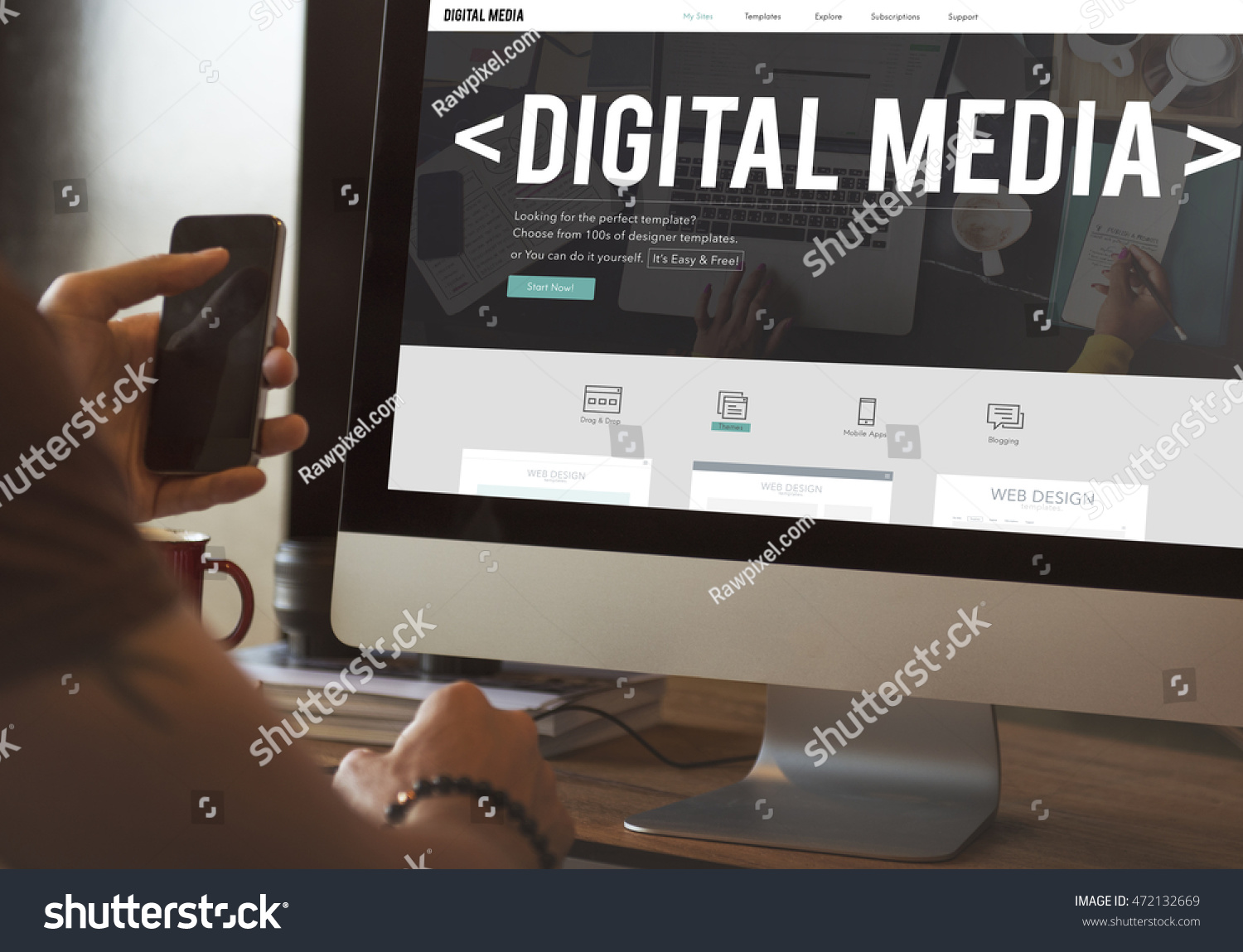 Web design digital media layout homepage stock photo royalty free web design digital media layout homepage page concept solutioingenieria Gallery