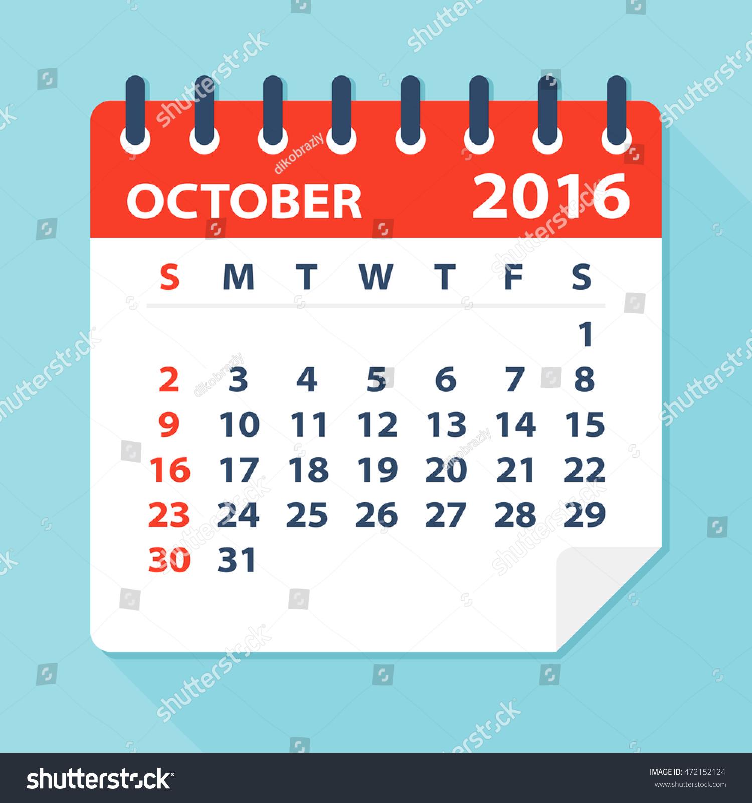 Calendar Illustration : October calendar illustration stock vector
