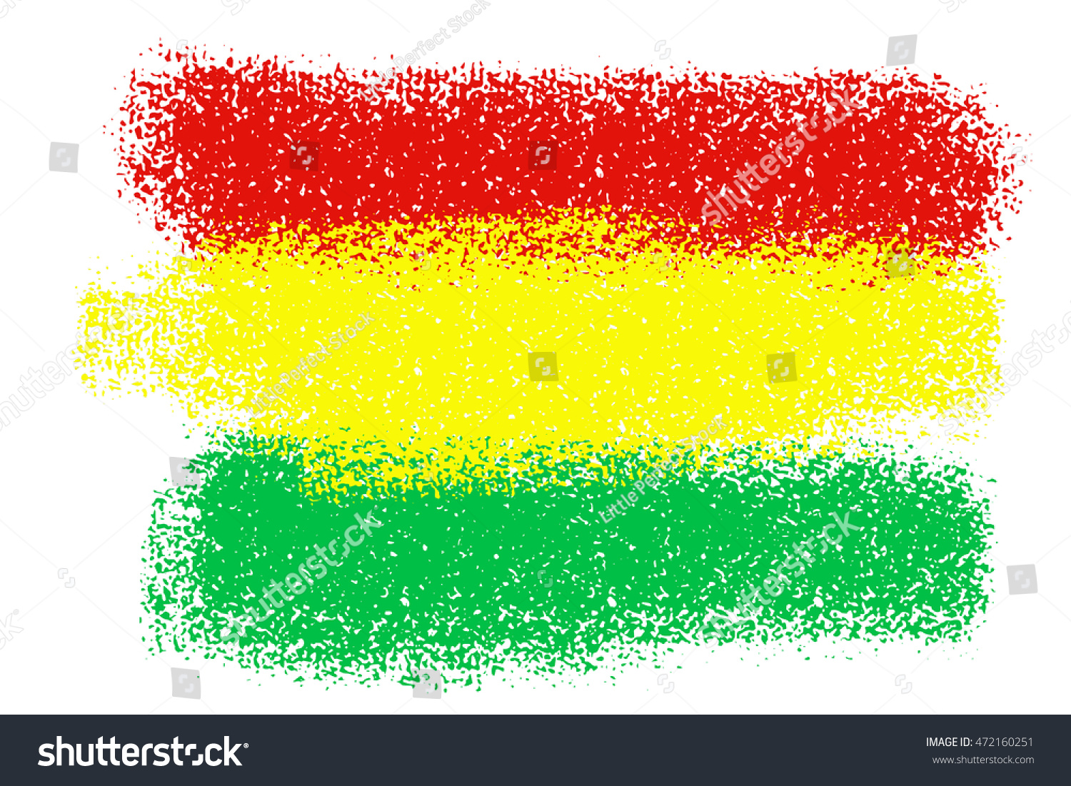 Reggae Concept Green Yellow Red Color Stock Vector (Royalty Free ...