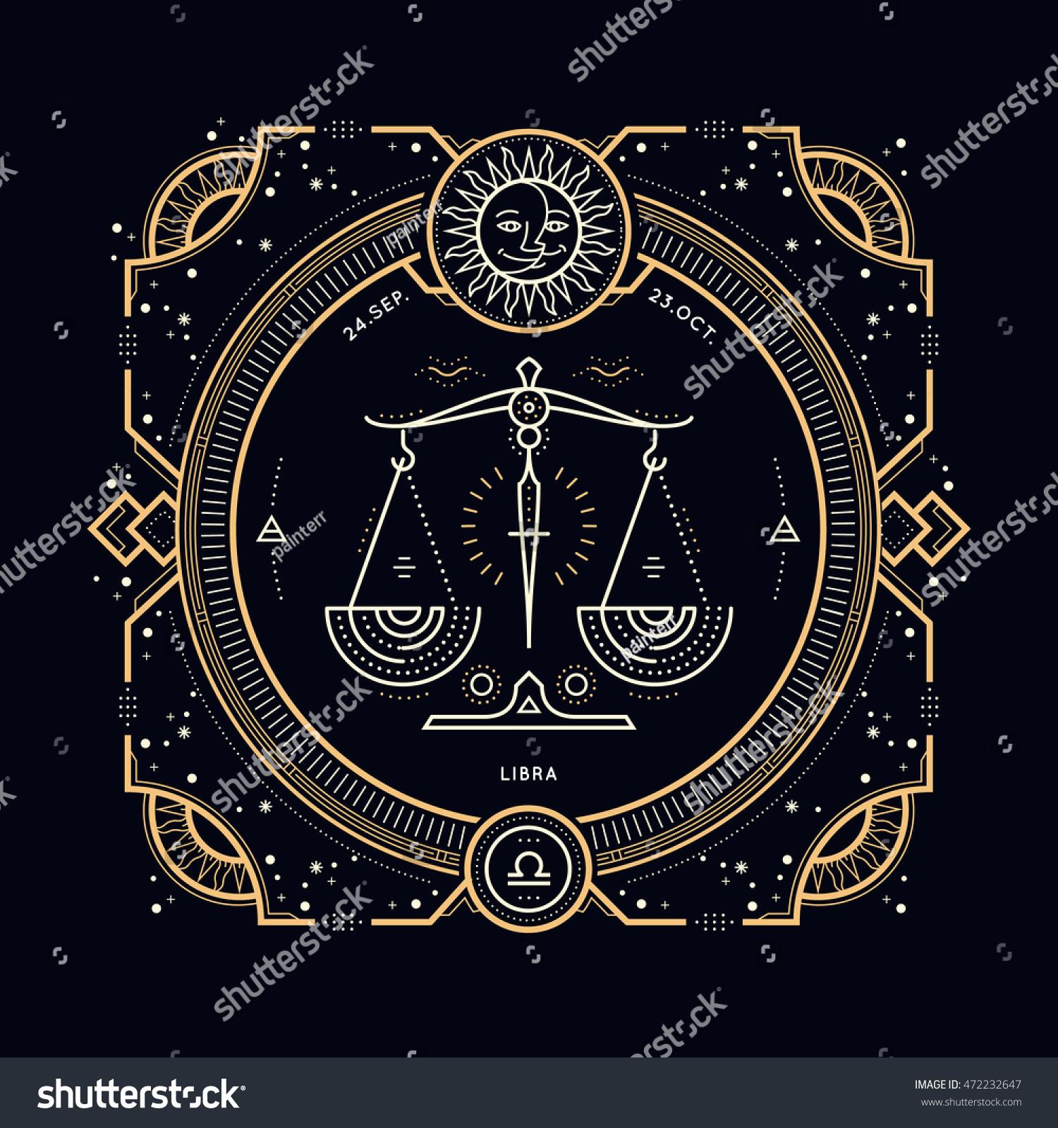 libra astrological symbol