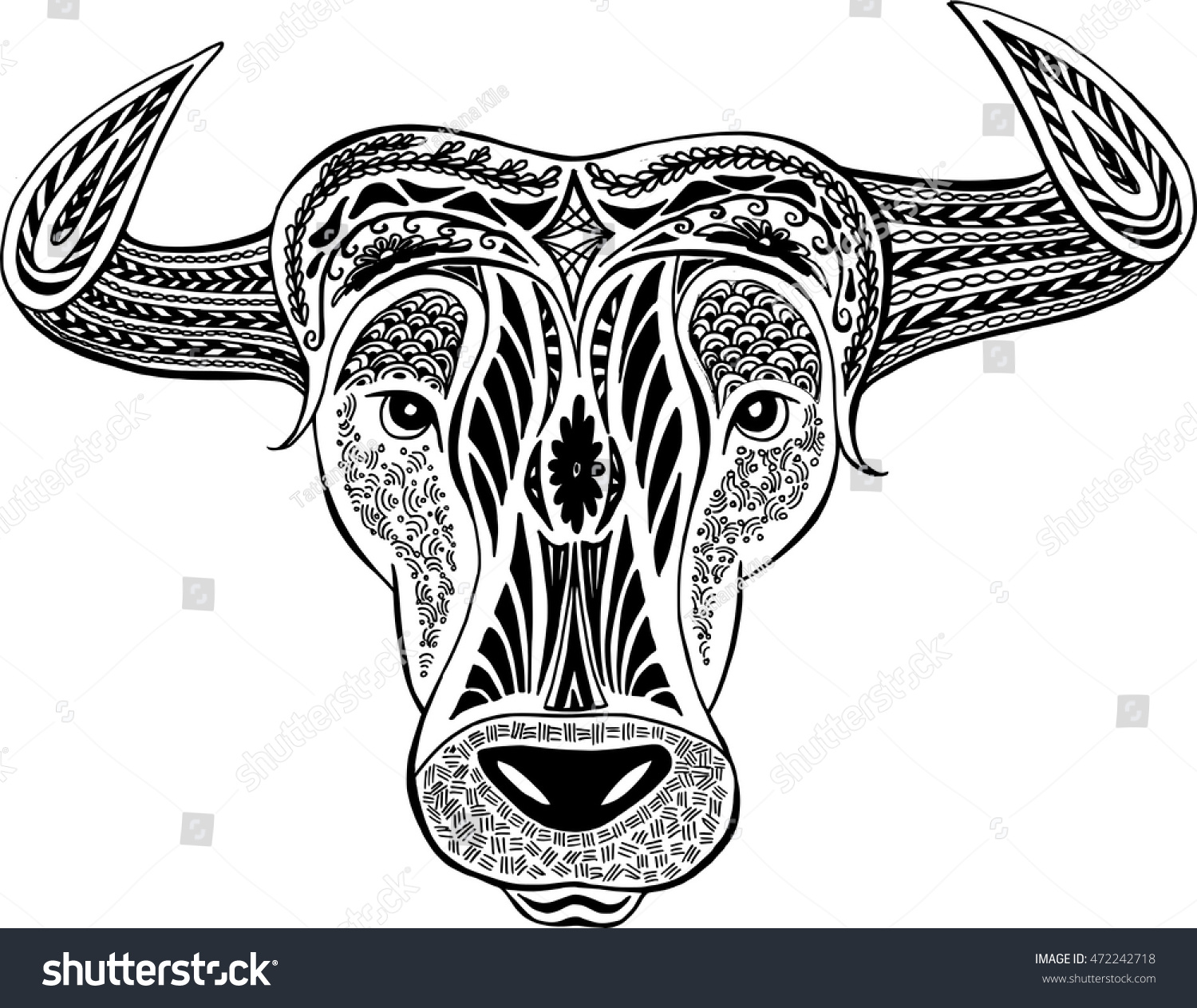 Astrology Sign Taurus Black And White Ez Canvas