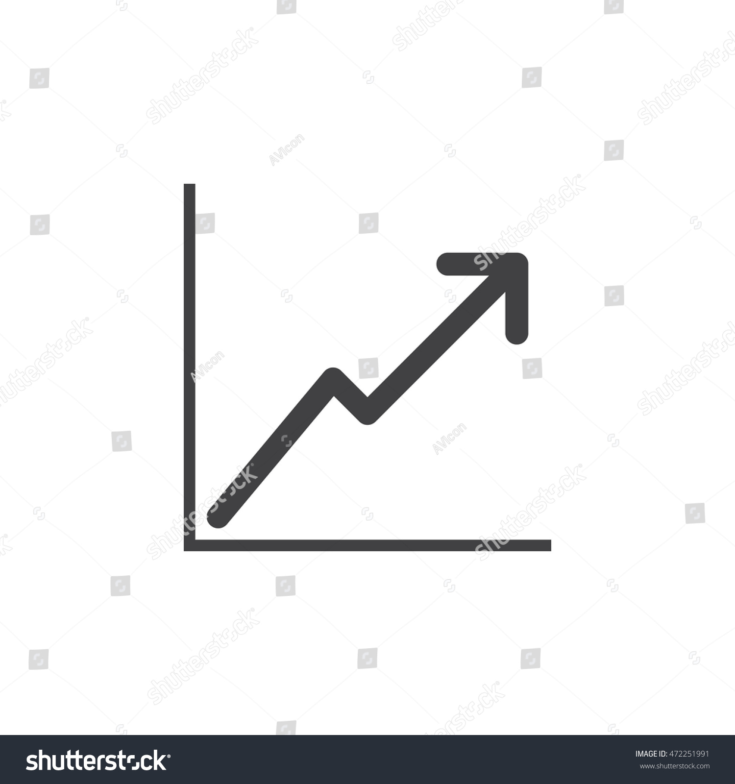 Line chart icon vector solid logo stock vector 472251991 shutterstock ccuart Image collections