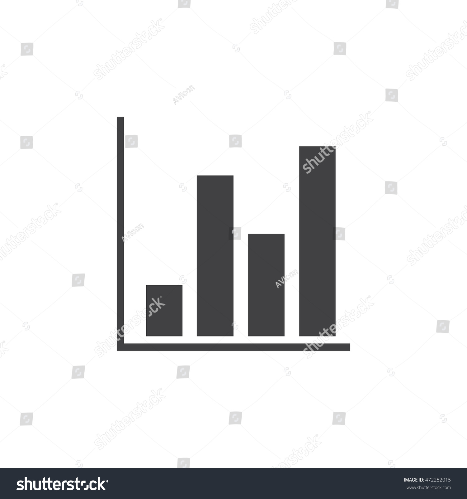 Bar chart icon vector solid logo stock vector hd royalty free bar chart icon vector solid logo illustration pictogram isolated on white ccuart Image collections