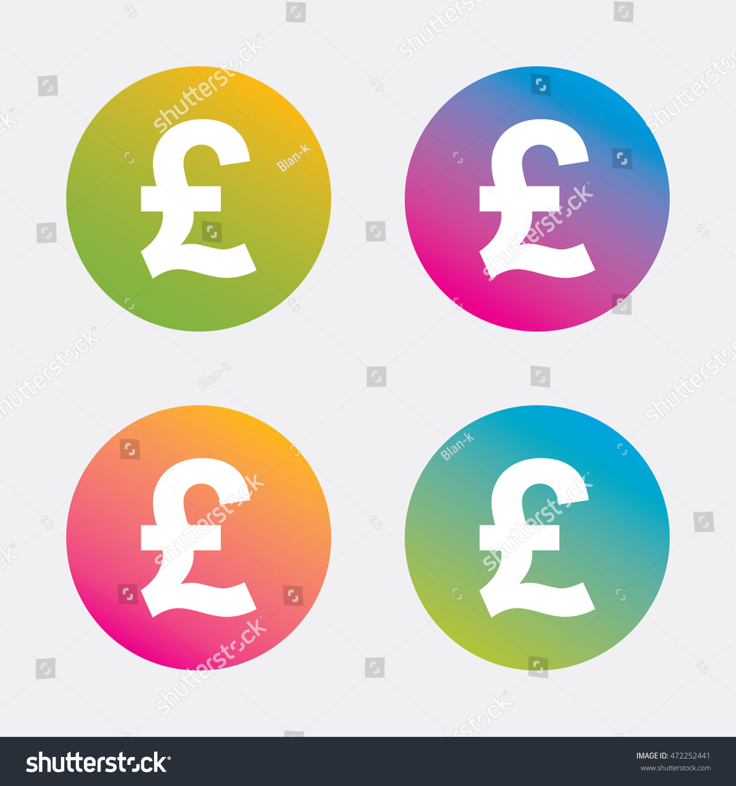 Pound sign icon gbp currency symbol stock vector 472252441 pound sign icon gbp currency symbol money label gradient flat buttons with icon buycottarizona Choice Image