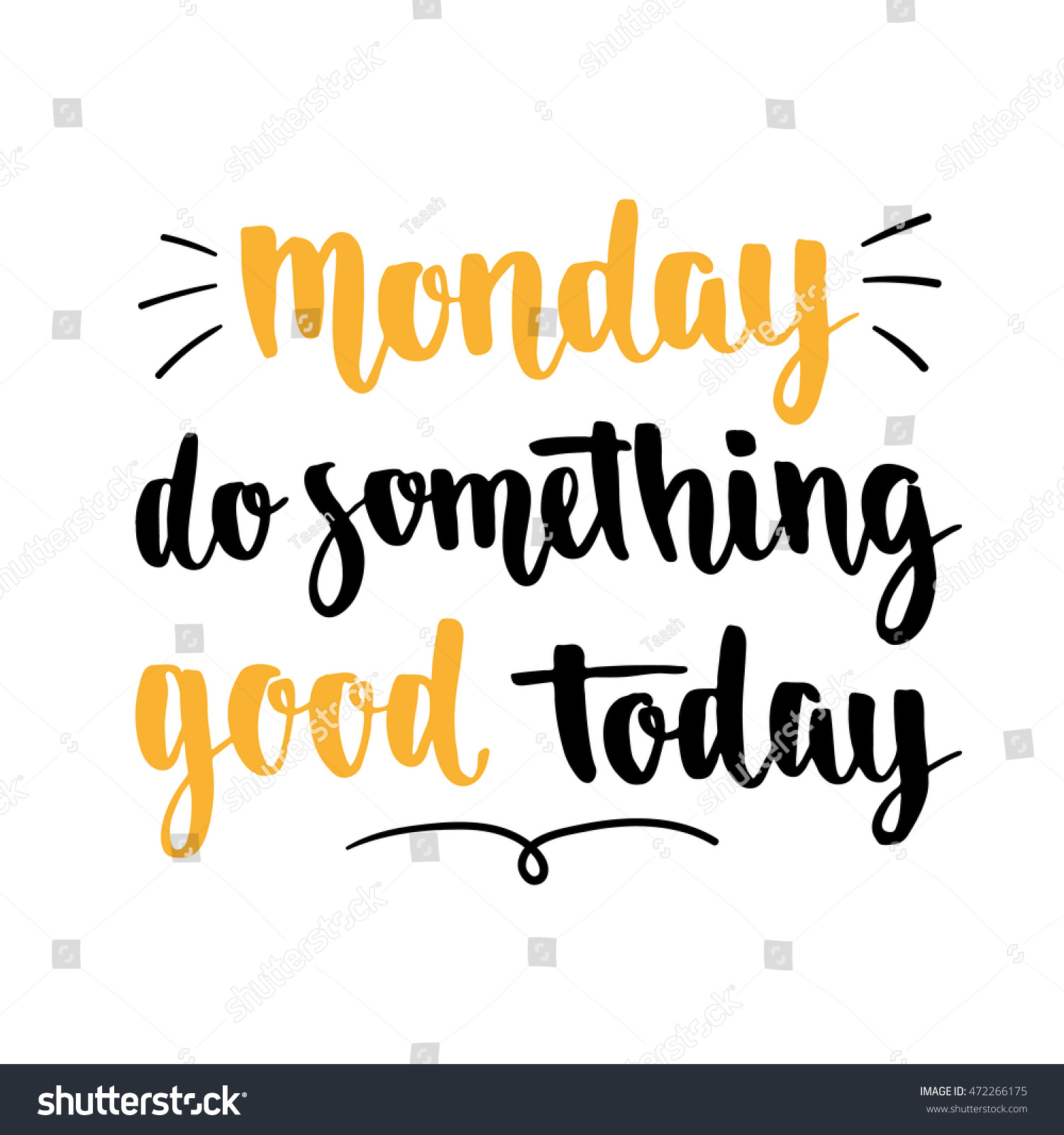Week Quotes Week Days Motivation Quotes Monday Vector Stock Vector 472266175