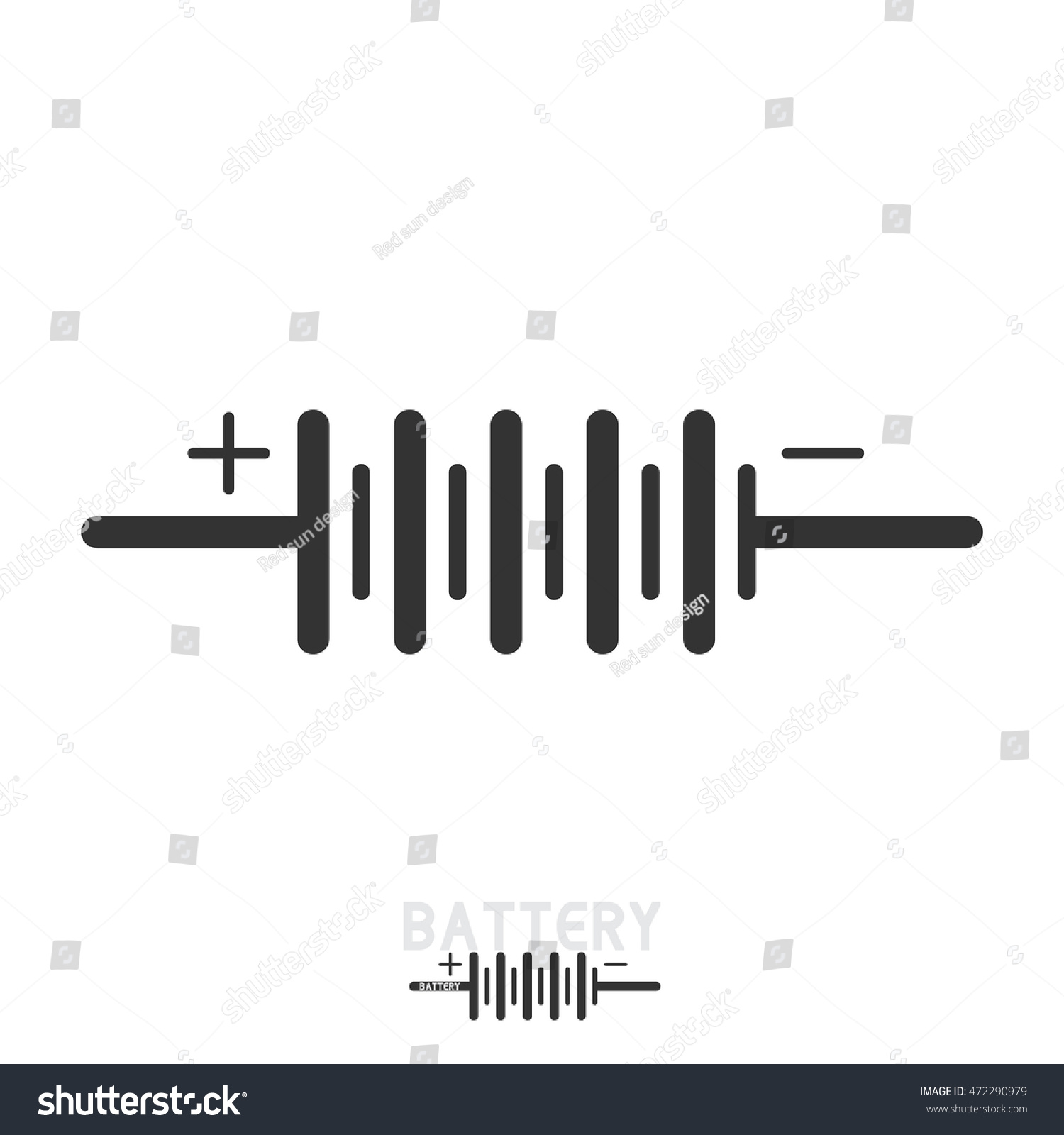 BATTERY Electronic Circuit Symbols Stock Photo (Photo, Vector ...