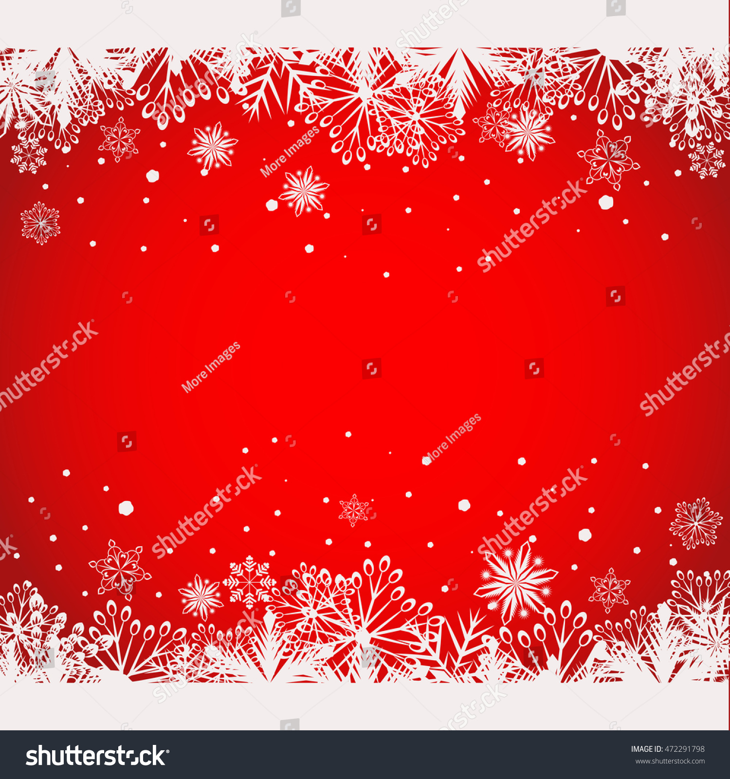 Abstract Red Christmas Background White Snowflake Stock Vector ...