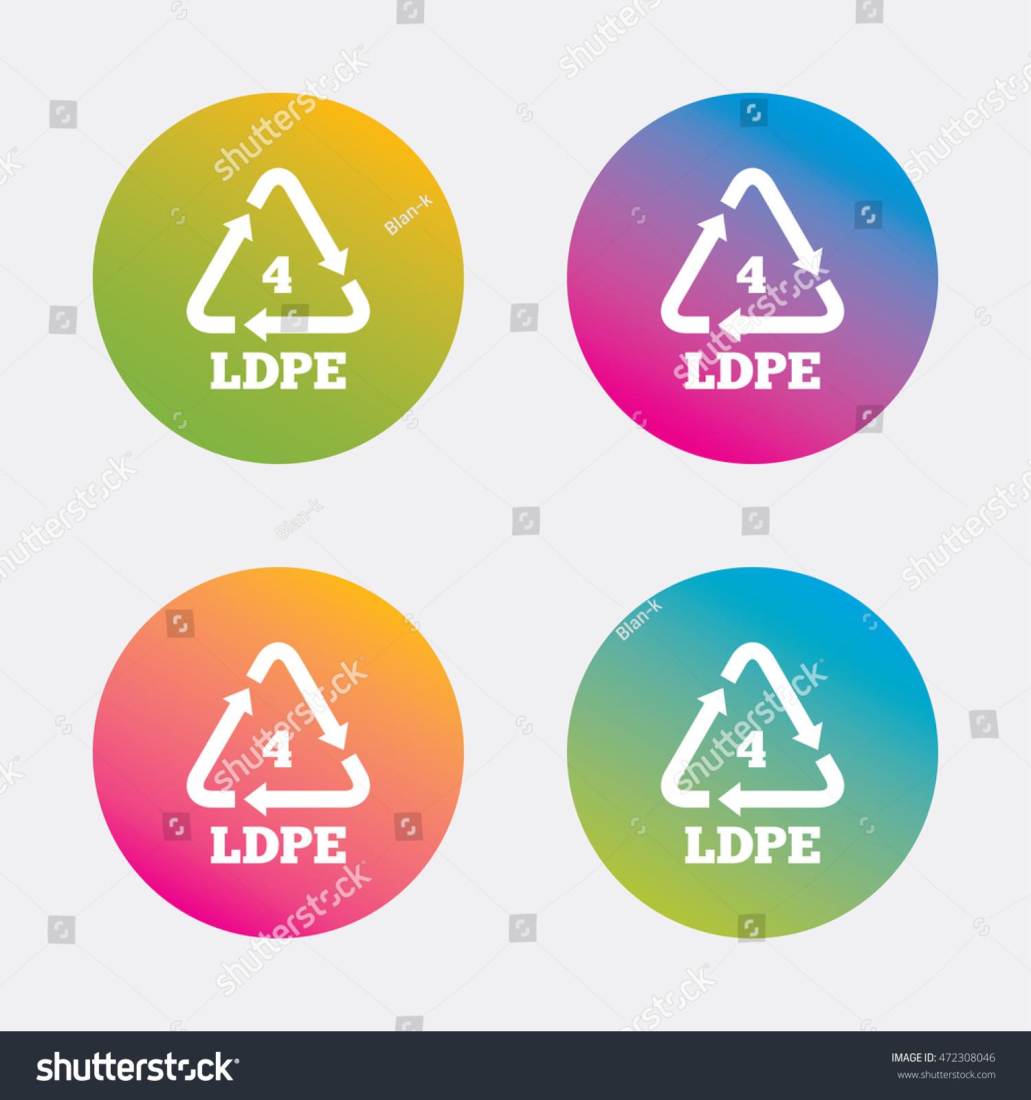 Ldpe 4 icon lowdensity polyethylene sign stock vector 472308046 ld pe 4 icon low density polyethylene sign recycling symbol gradient biocorpaavc Choice Image