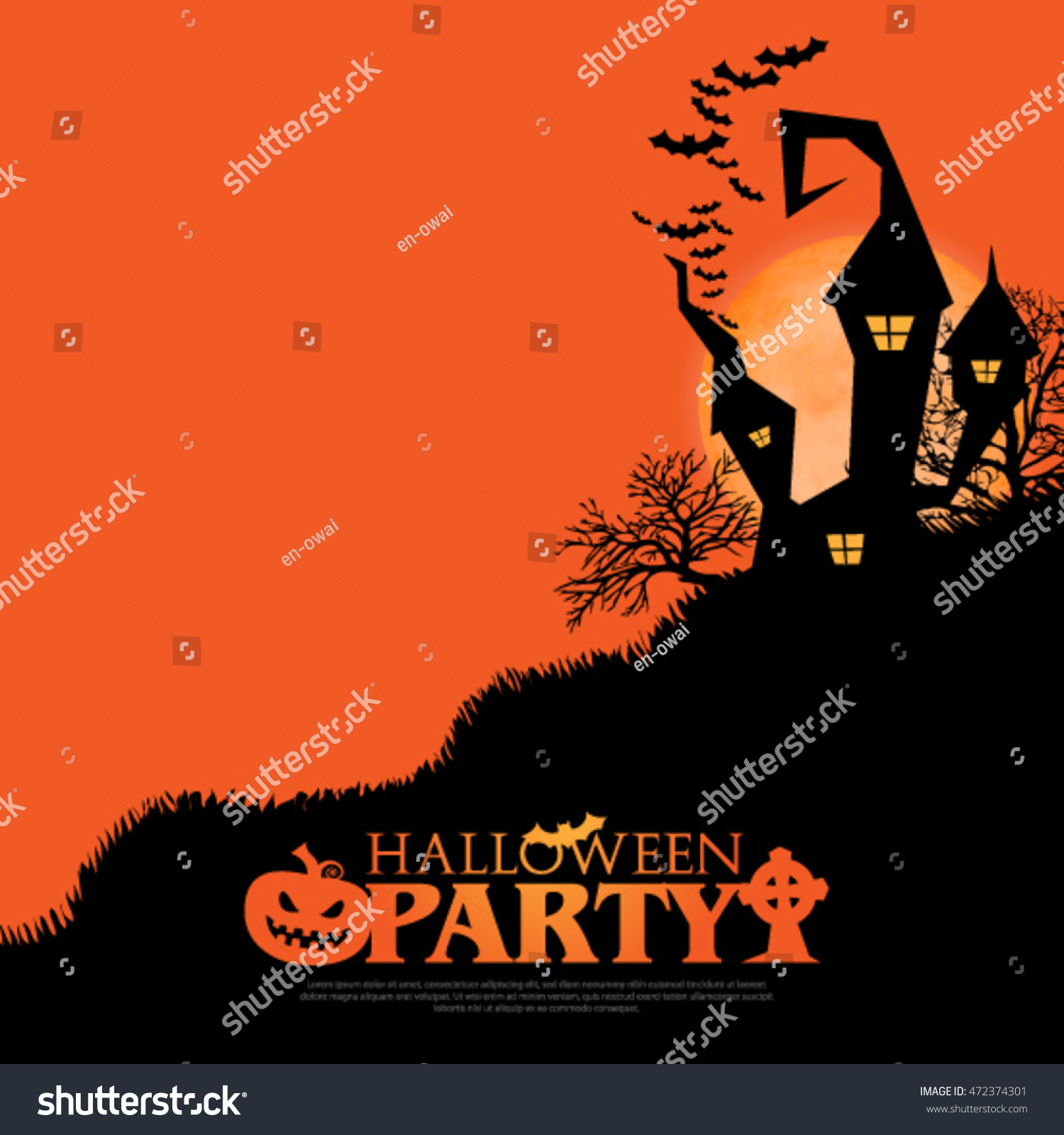 halloween layout design cover background stock vector (royalty free