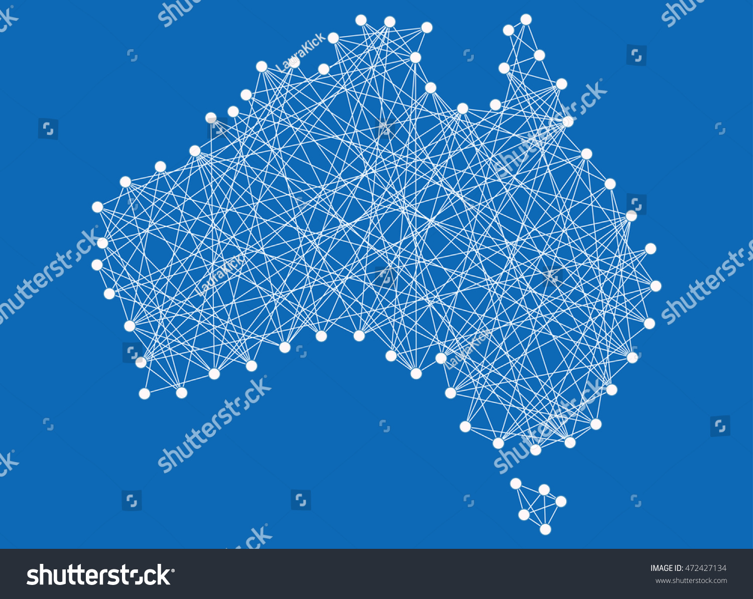 Map Australia Territory Made By Nails Stock Vector 472427134 ...