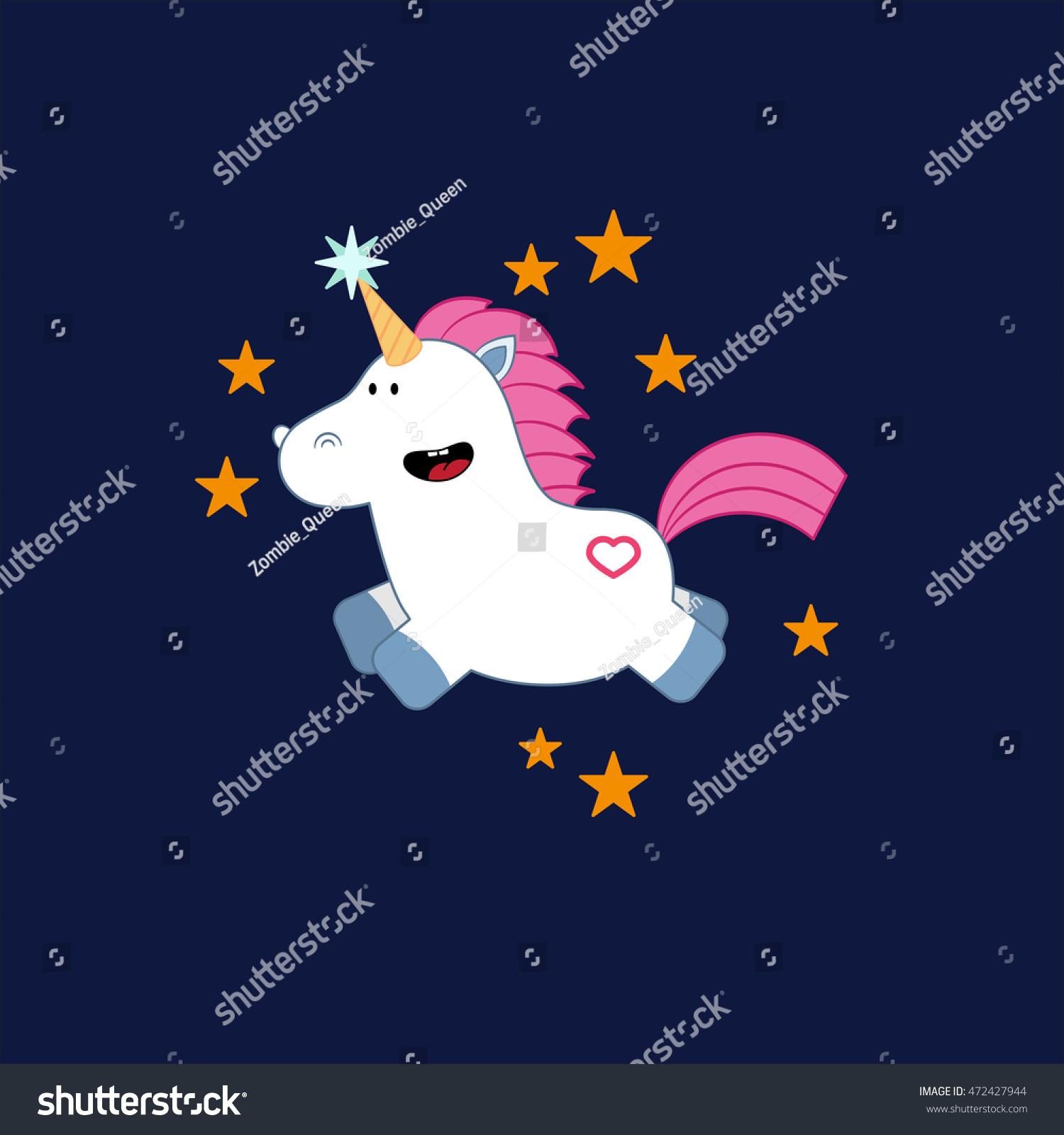 unicorn birthday card template dark background stock vector royalty