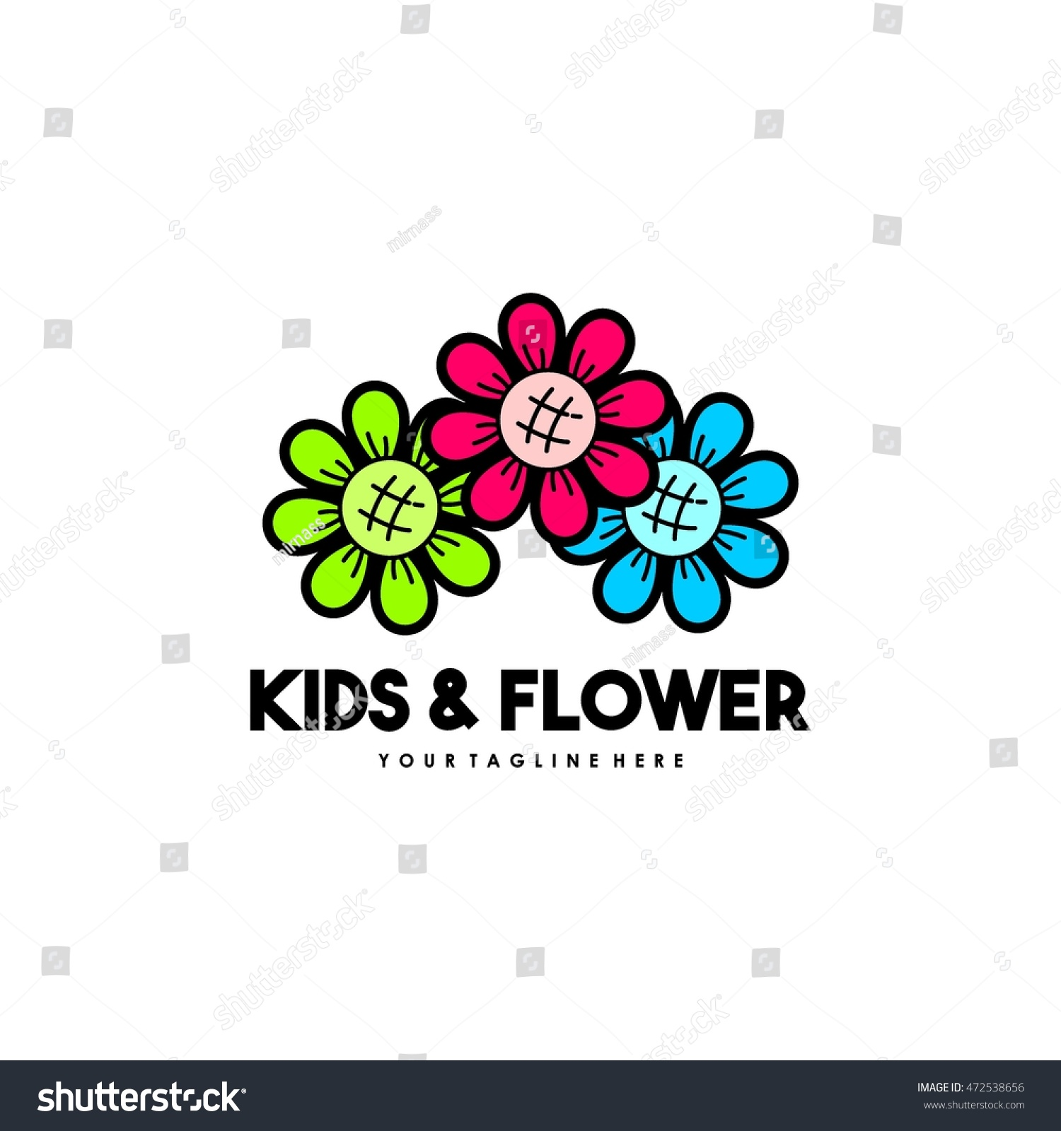Playgroup Preschool Kindergarten Logo Template