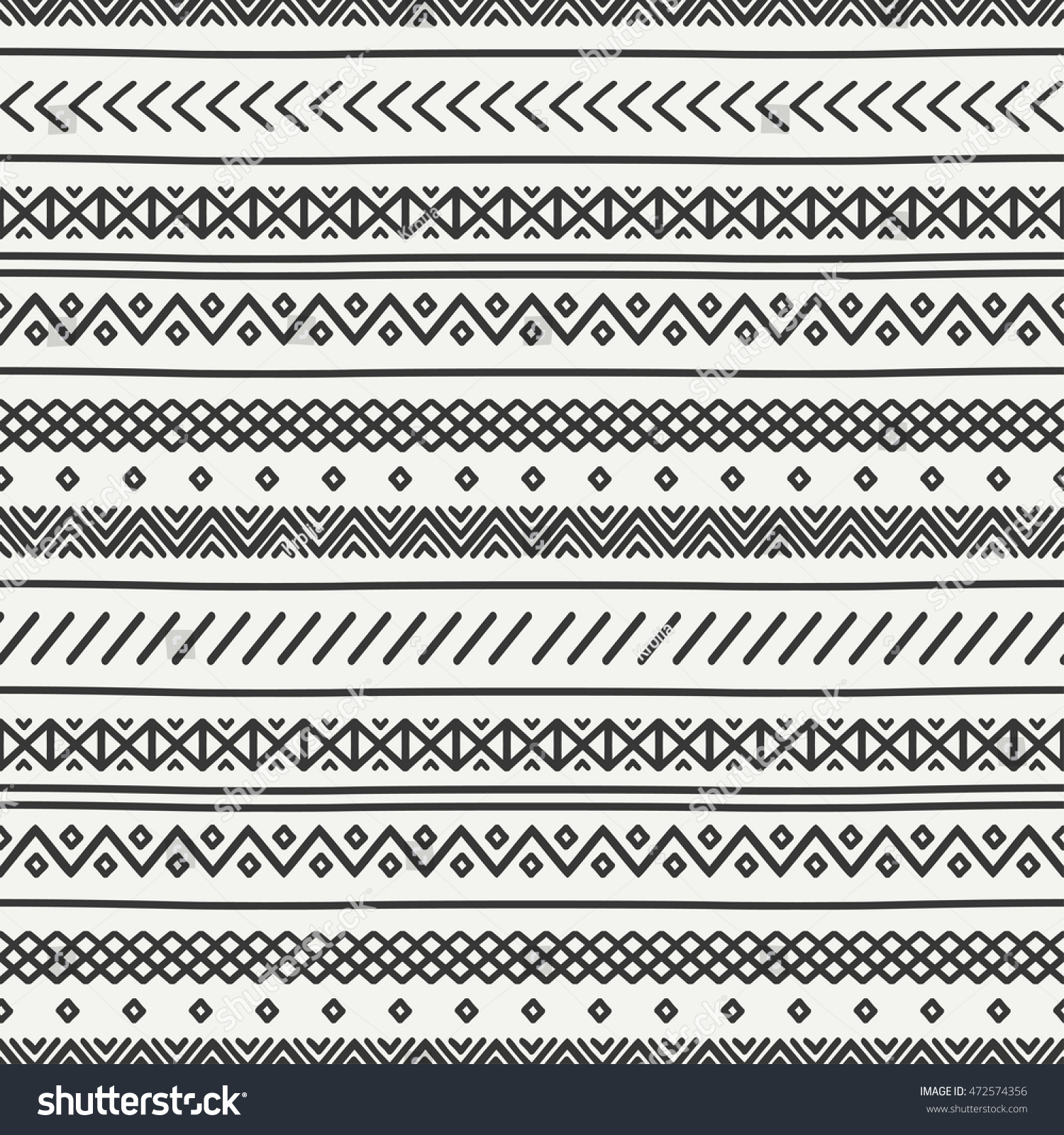 Background geometric mexican patterns seamless vector zigzag maya - Tribal Hand Drawn Line Geometric Mexican Ethnic Seamless Pattern Border Wrapping Paper Doodles