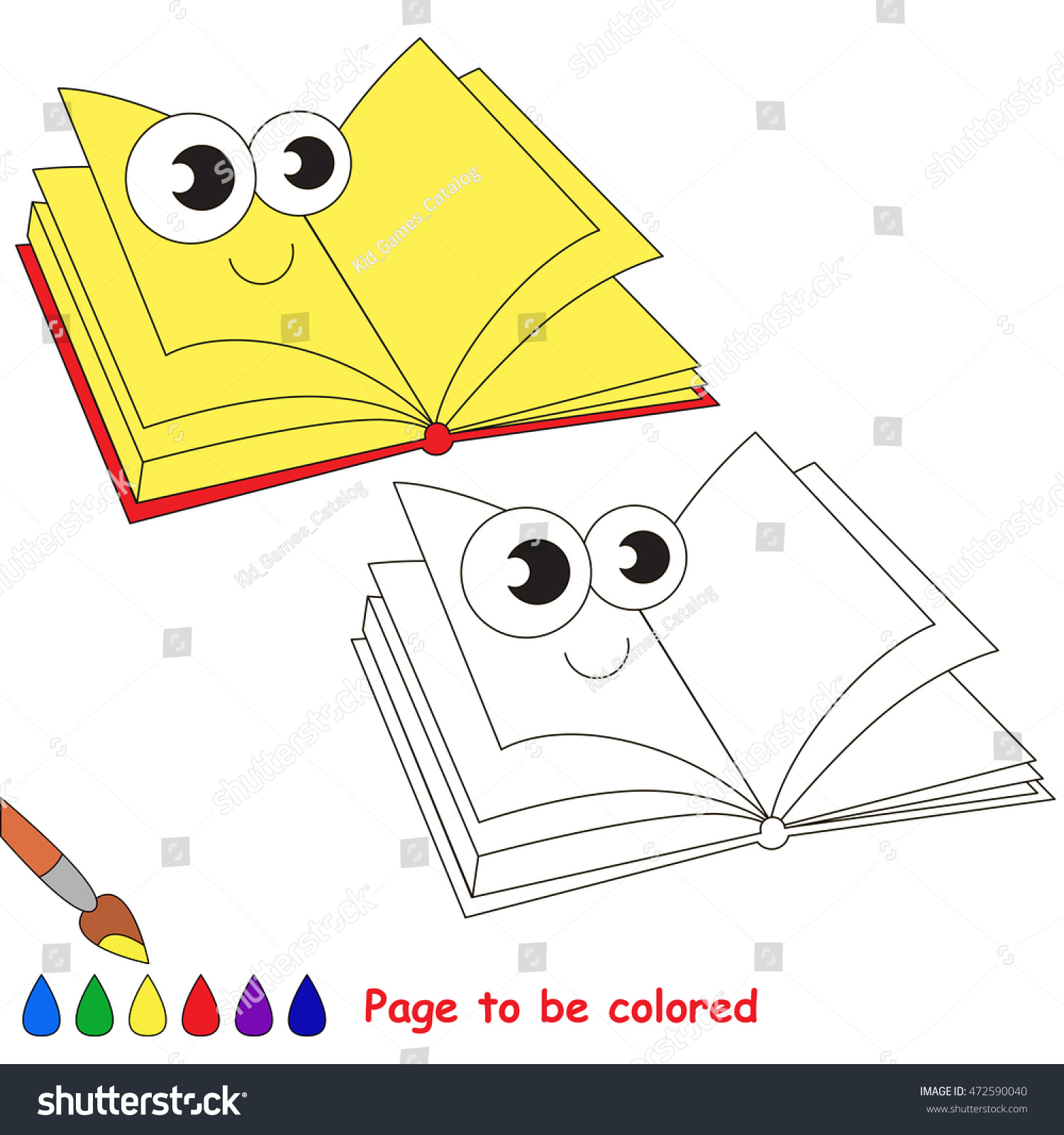 coloring book to educate kids learn colors visual educational - Coloring Book Paper Stock