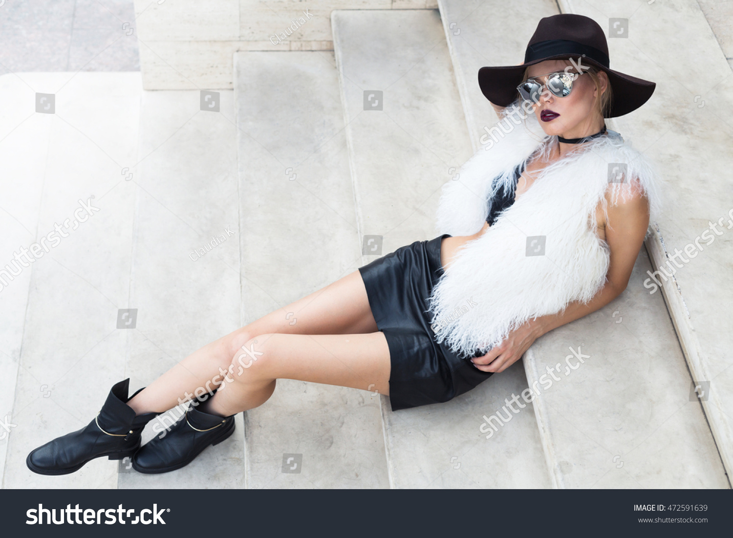 Excellent Beautiful Natural Young Woman In Boots Sitting Cross Legged U2014 Stock Photo U00a9 Salomephoto #29317125