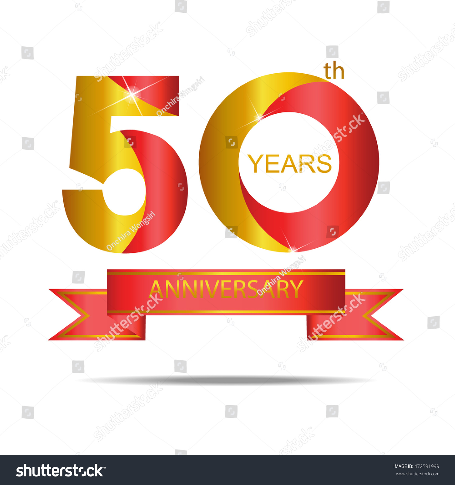 Template logo 50th anniversary red gold stock vector 472591999 template logo 50th anniversary with red and gold color 50 years anniversary logo 50 buycottarizona Choice Image