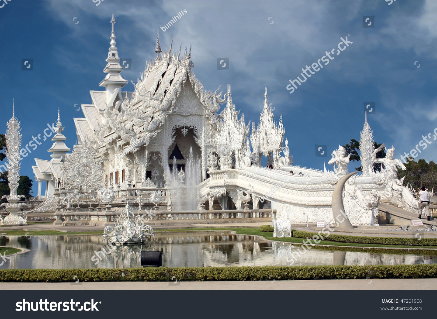 Looking much like a wedding cake wat rong khun chiang for How much does it cost to buy a fishing license