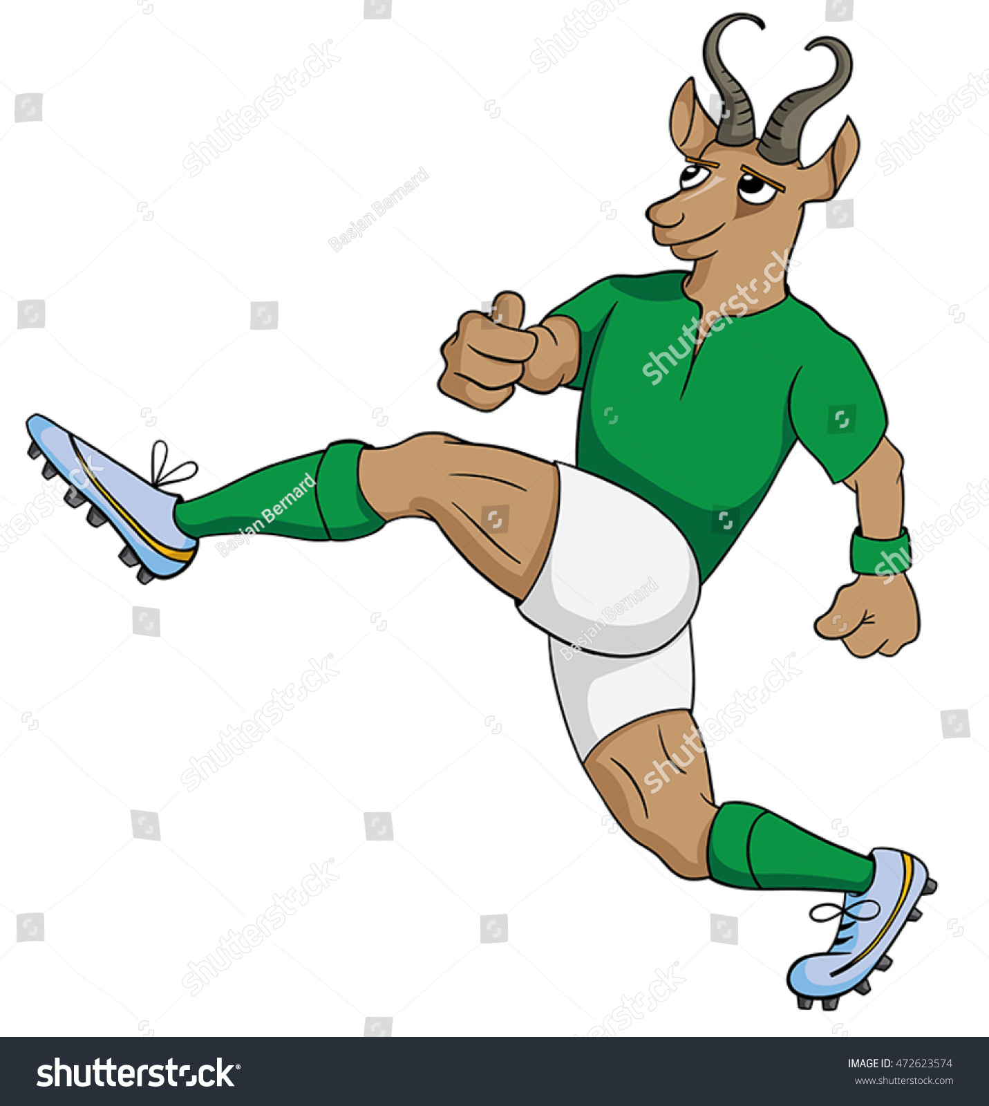England Rugby Player Mad Dog: Cartoon Springbok Rugby Player Stock Vector 472623574