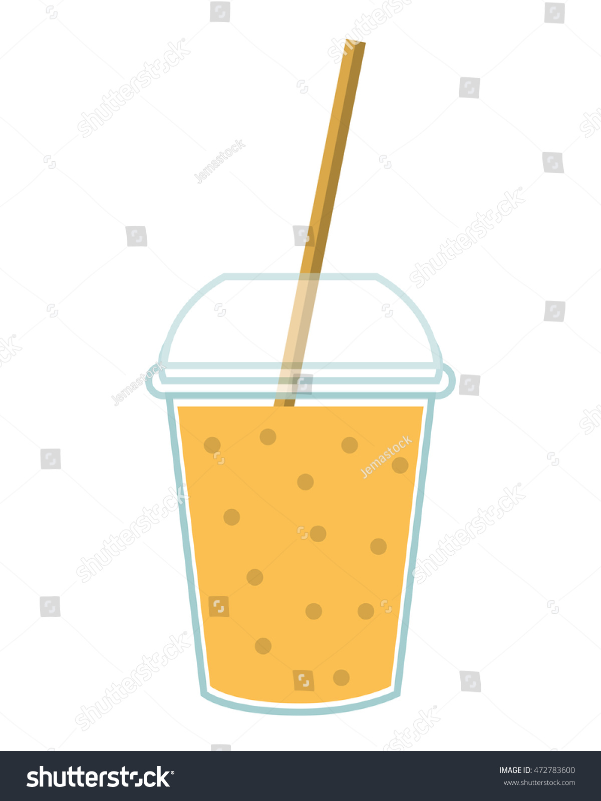 Glass juice cups design - Juice Glass Drinking Straw Drink Beverage Fresh Icon Flat And Isolated Design Vector Illustration