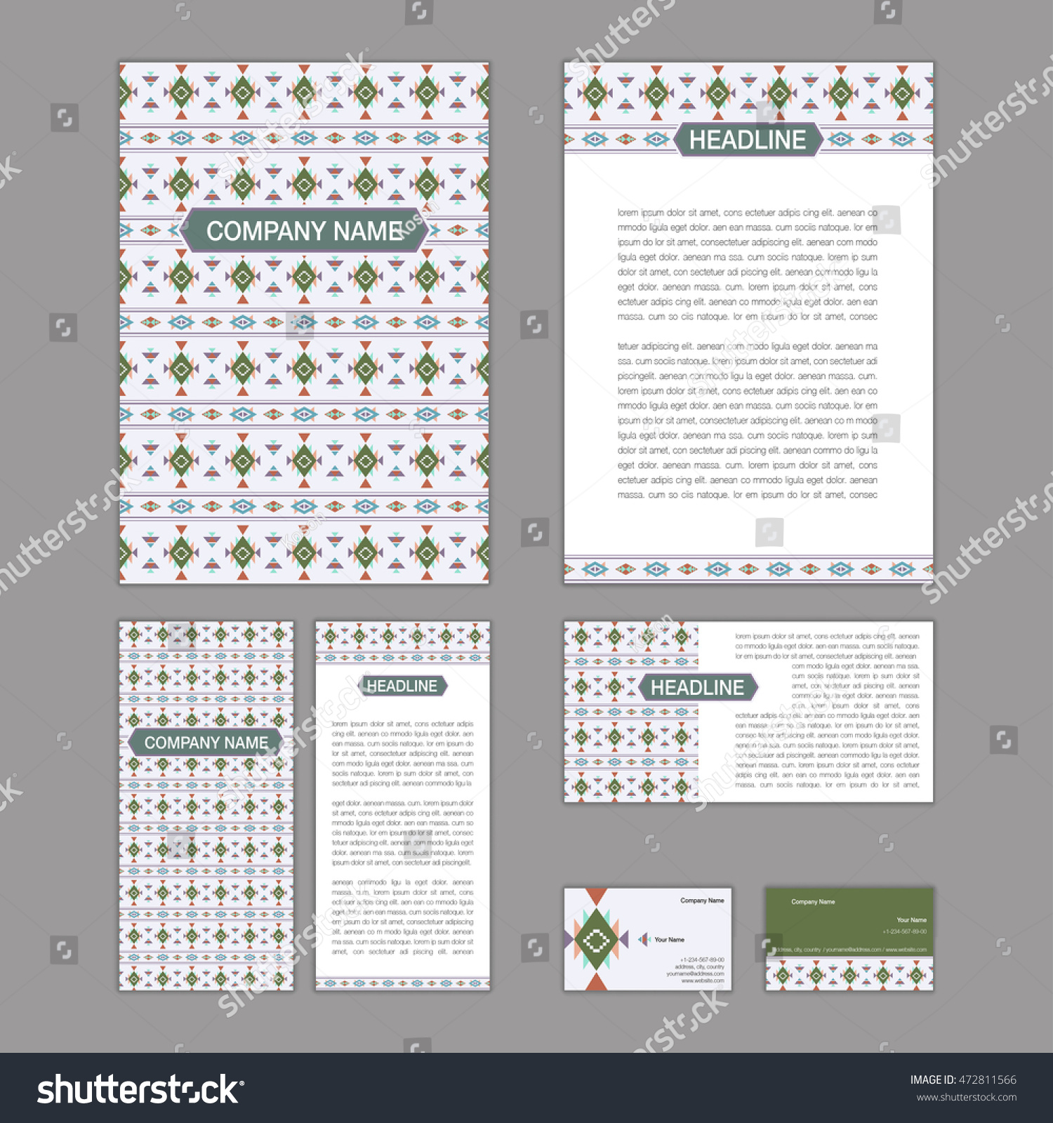 set abstract brochure templates leaflet banner stock vector