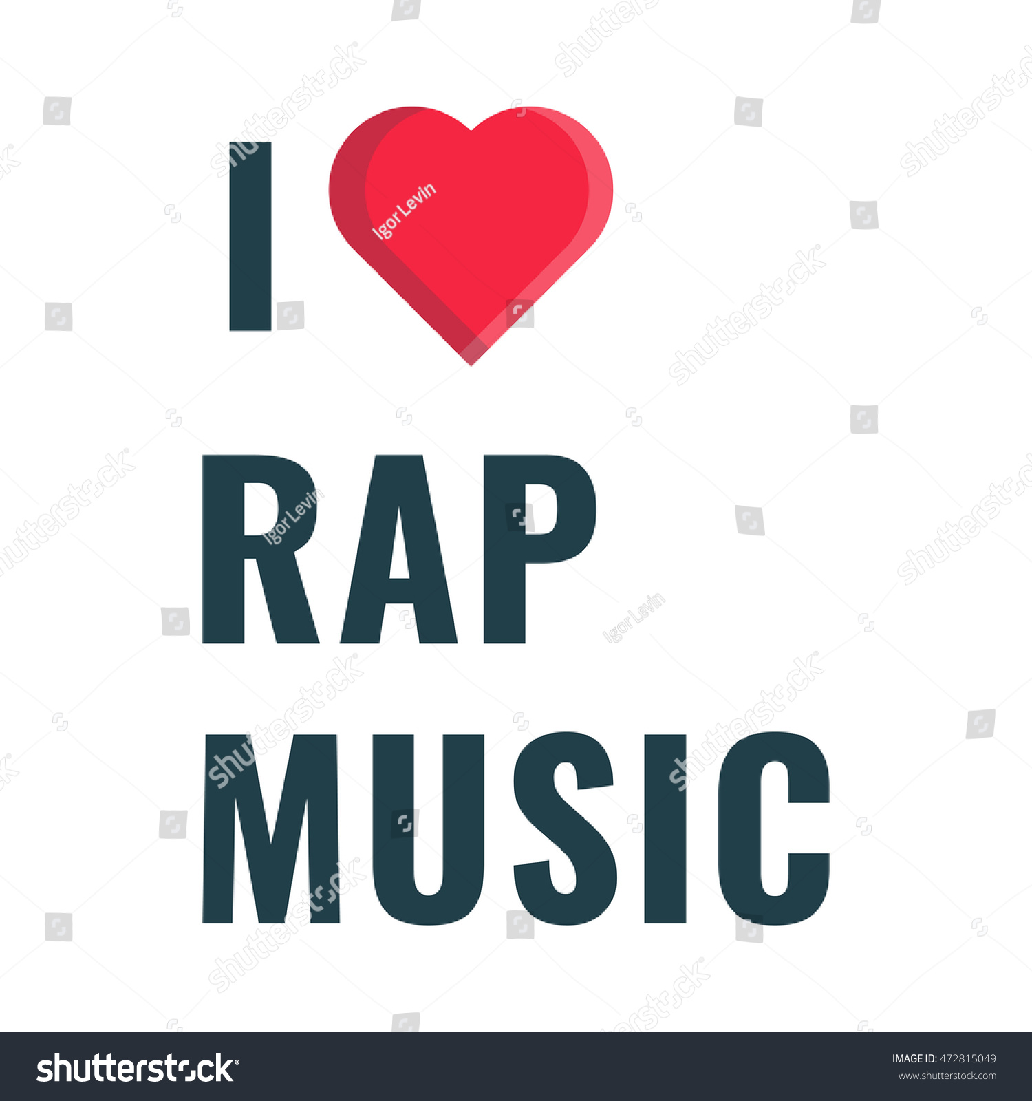 Love Rap Music Flat Vector Icon Stock Vector (Royalty Free) 472815049