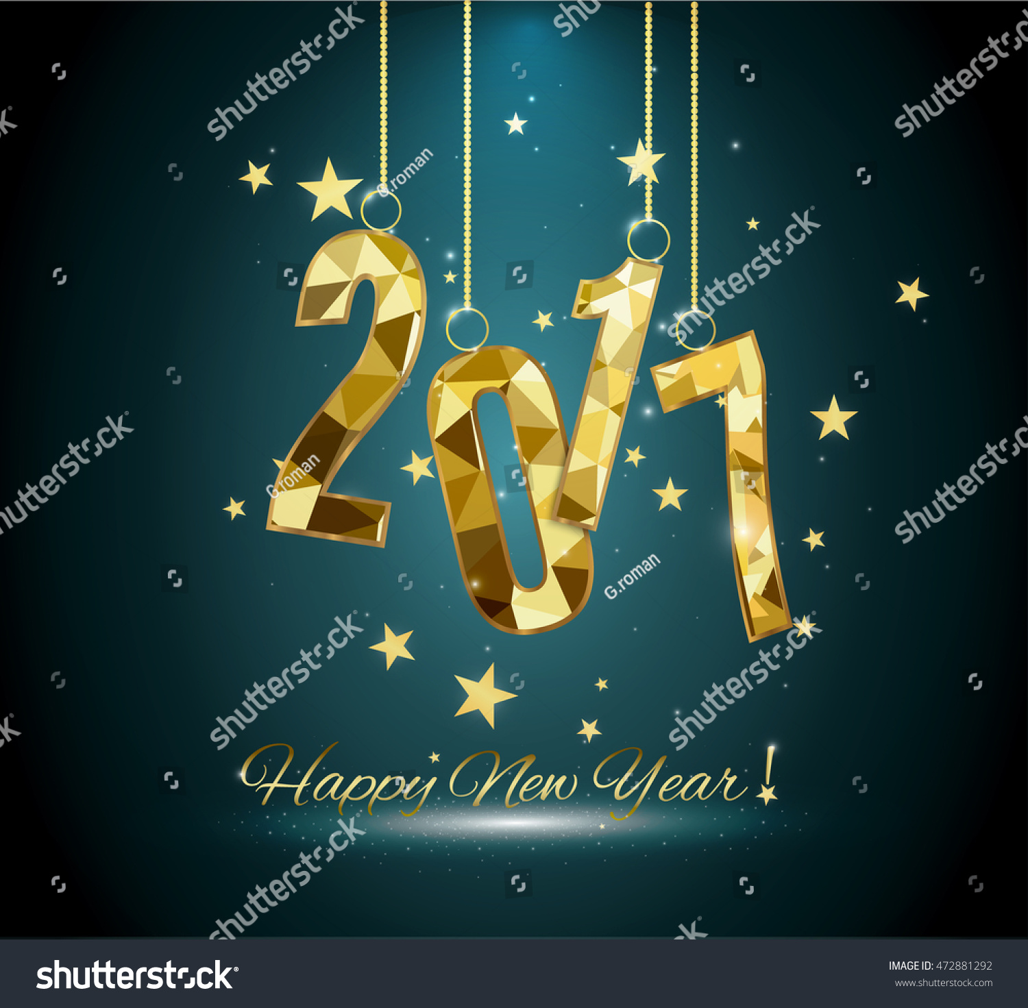 Happy New Year and Merry Christmas 2017 #472881292