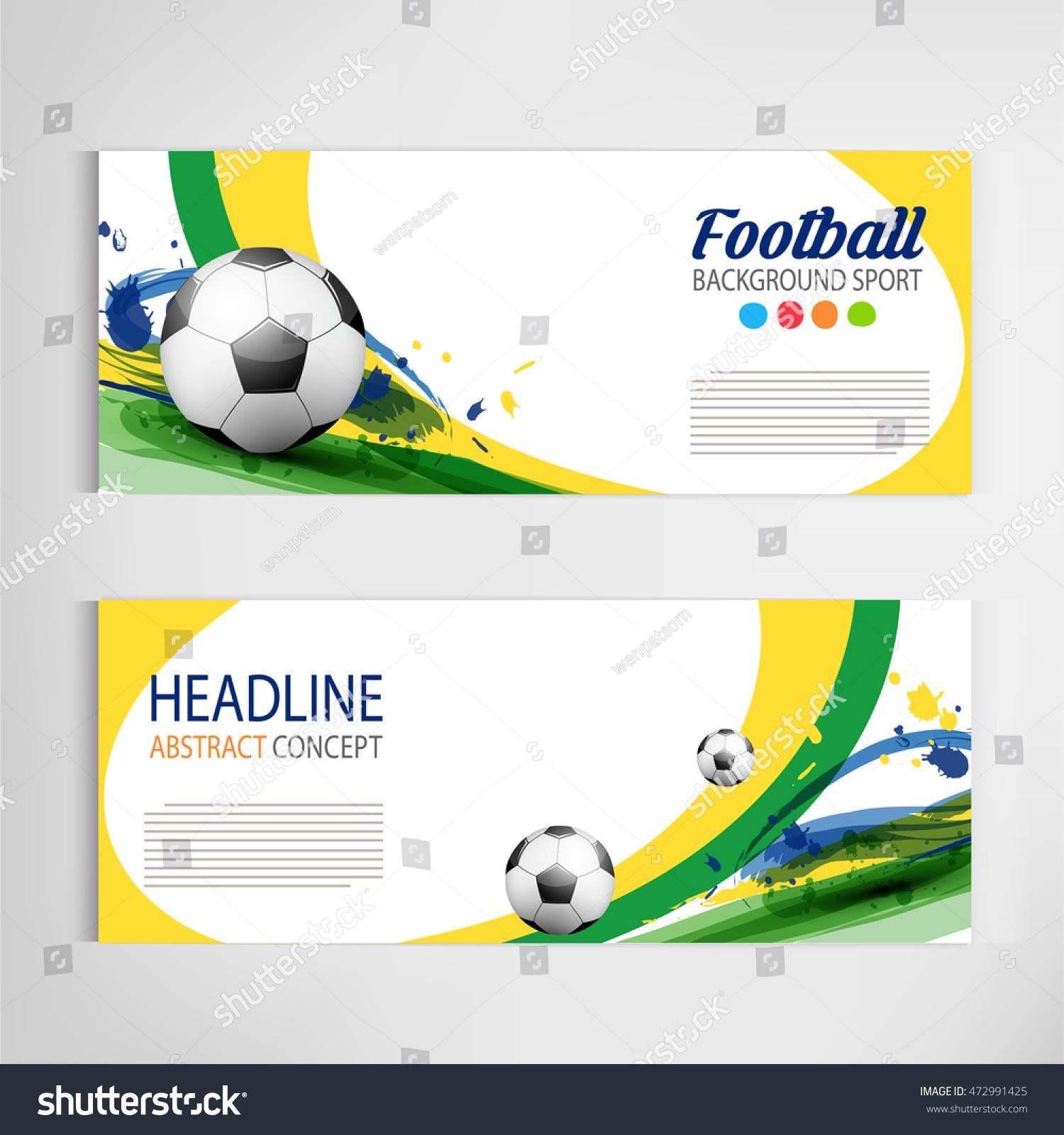 soccer tournament modern sport banner template のベクター画像素材