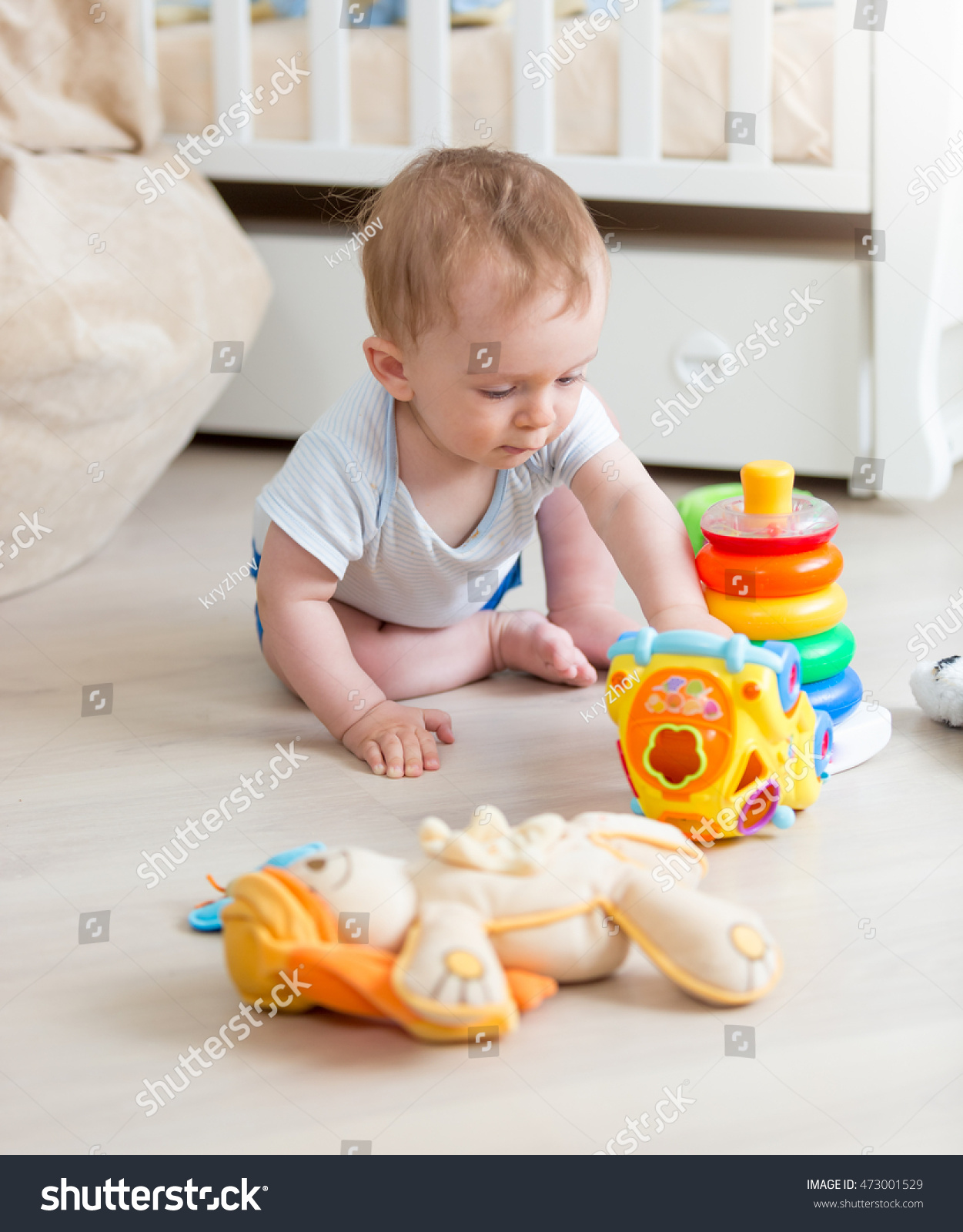 Cute 9 Months Old Baby Boy Stock Shutterstock