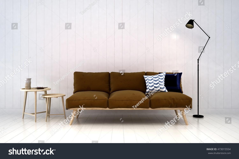 Minimal Sofa Living Area Concept Design