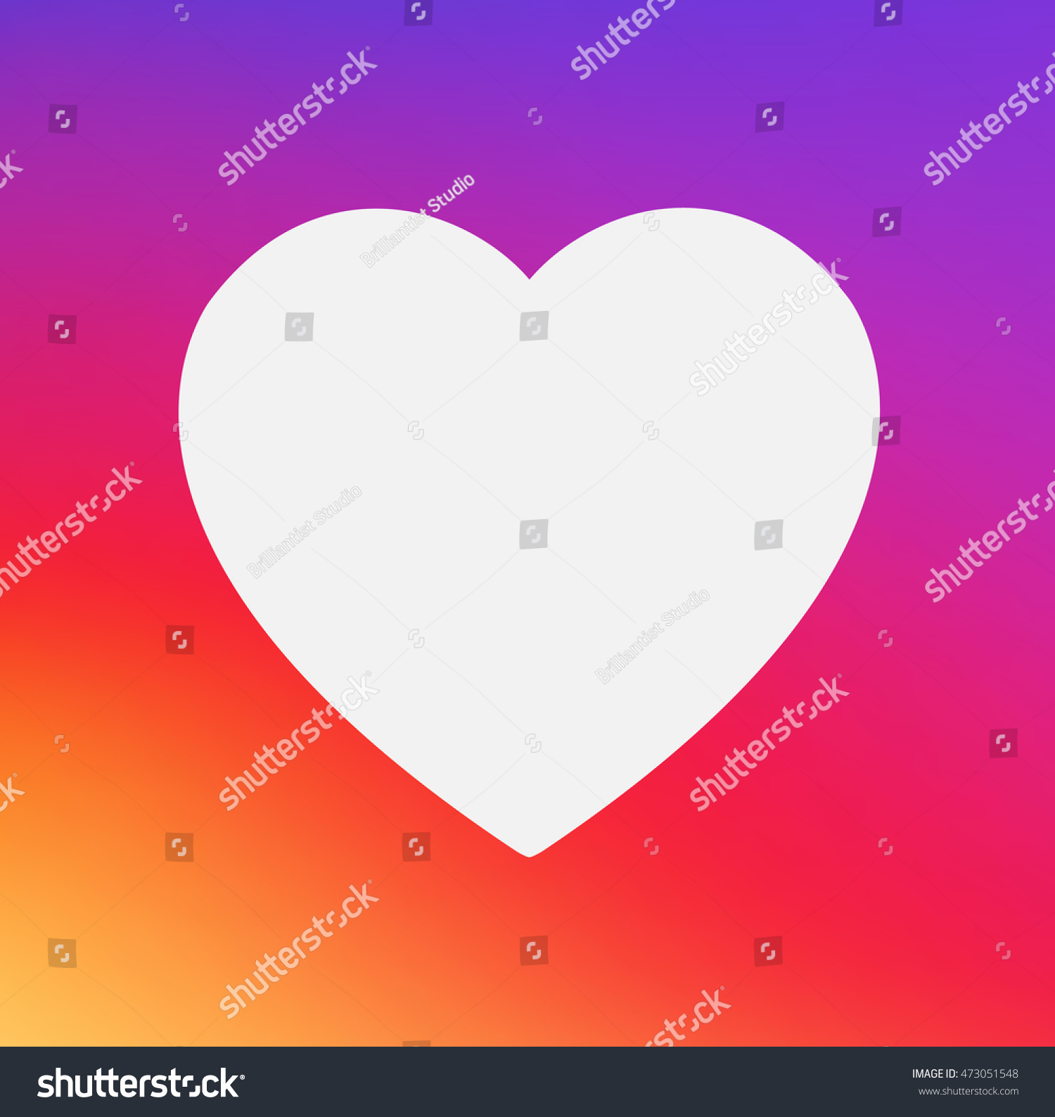 Heart Symbol App Icon On Smooth Stock Vector Royalty Free