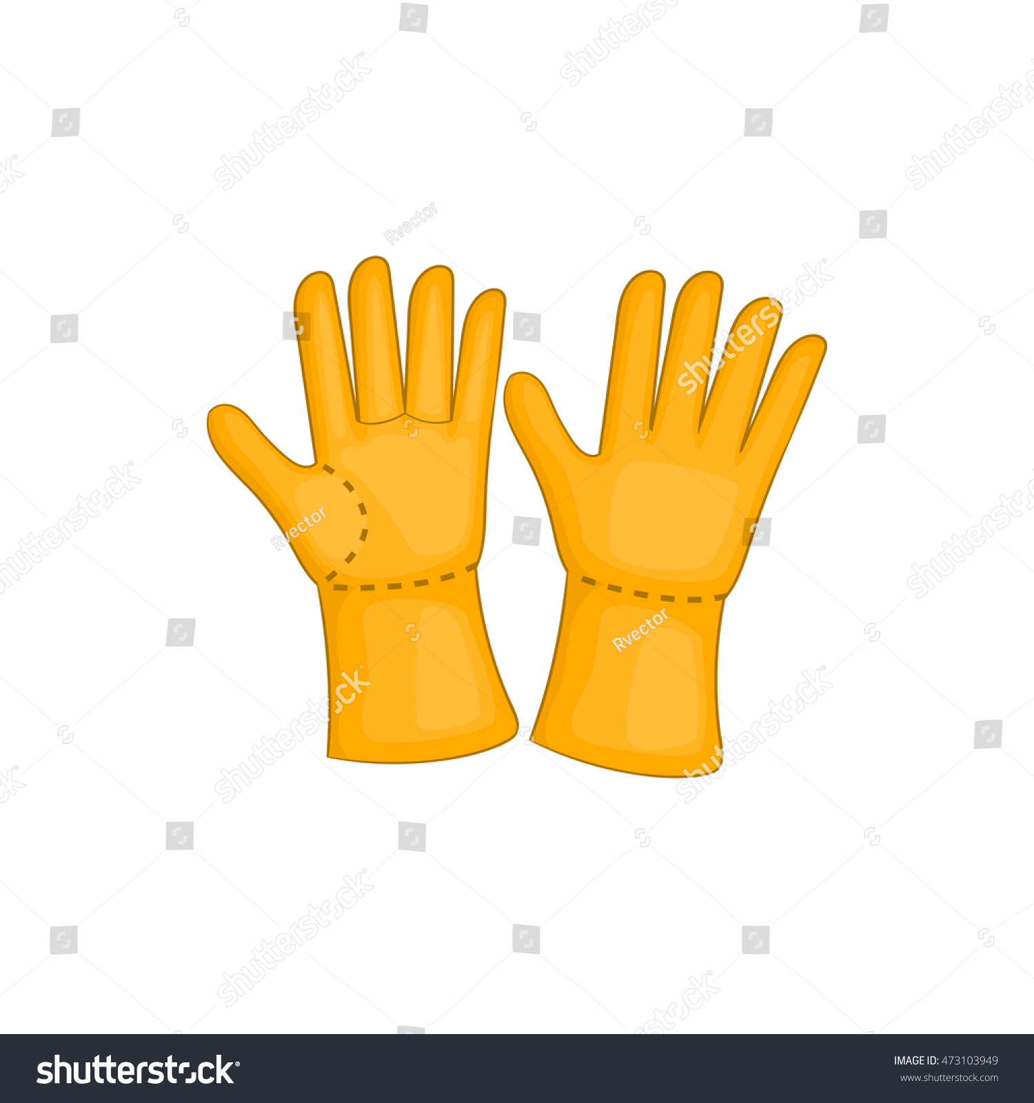 Rubber gloves icon cartoon style isolated stock vector 473103949 rubber gloves icon in cartoon style isolated on white background protection for hands symbol biocorpaavc