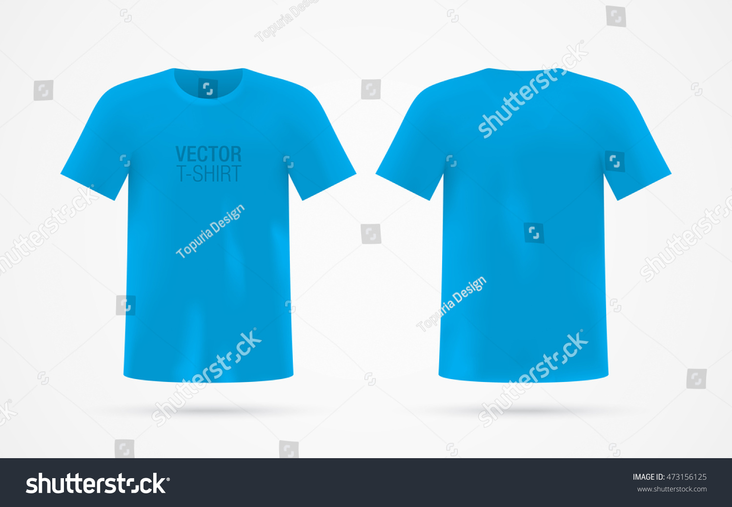 Blue Vector Tshirt Template Isolated On Stock Vector Royalty Free