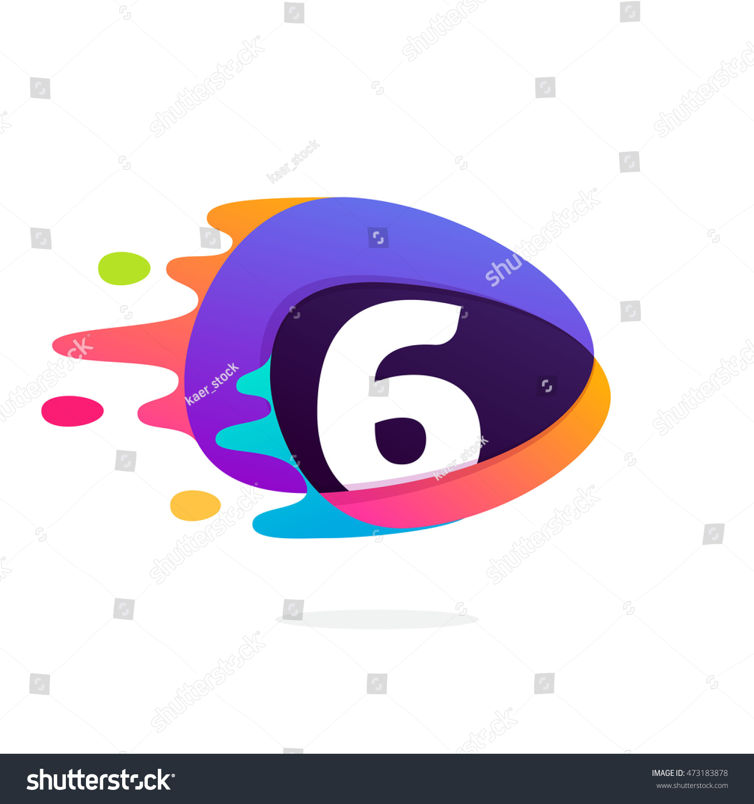 Number six logo triangle intersection icon stock vector 473183878 number six logo in triangle intersection icon with fast speed lines multicolor vector for application buycottarizona Images