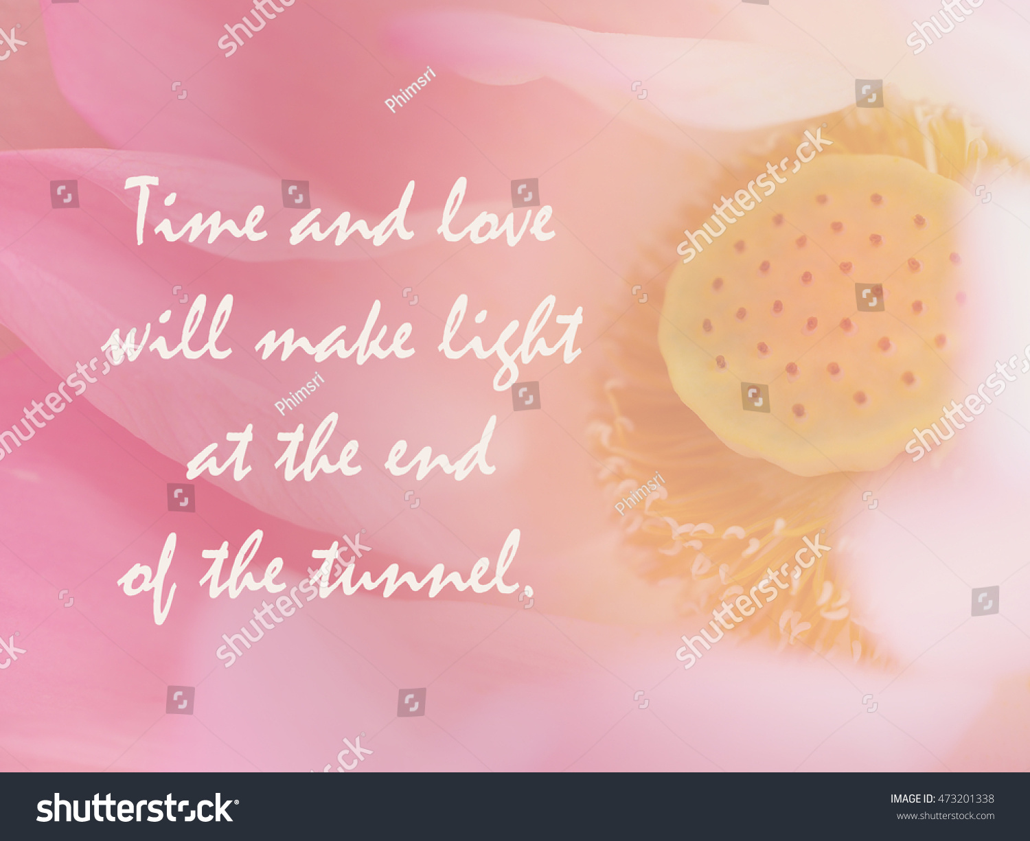 Life Quotes Inspirational Quote Motivational Background Stock Photo
