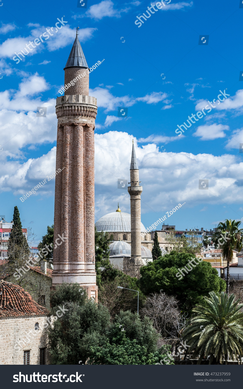 red minaret, symbol of antalya, turkey. old town,antalya | ez canvas