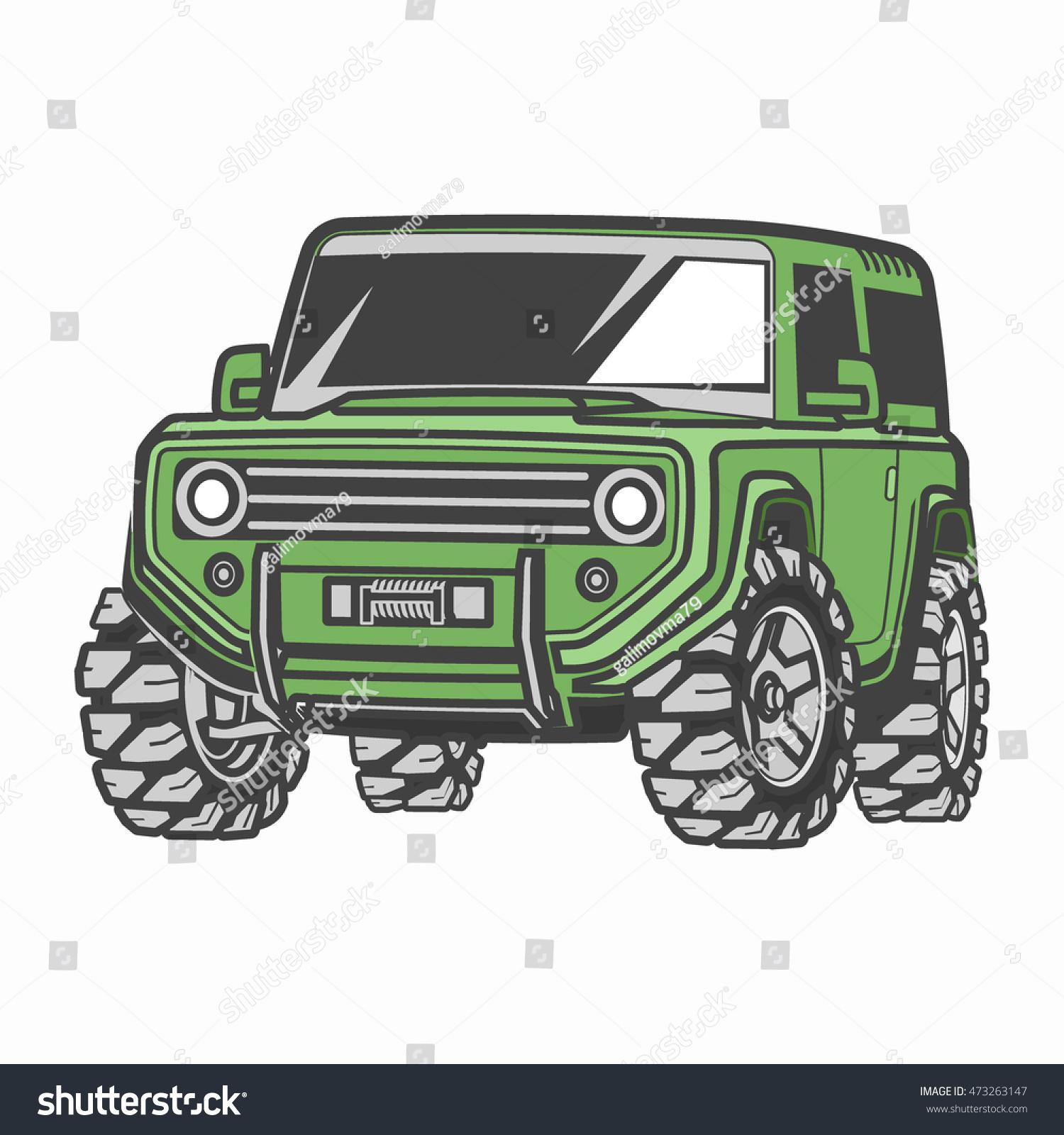 Offroad Suv Car Stock Vector Shutterstock