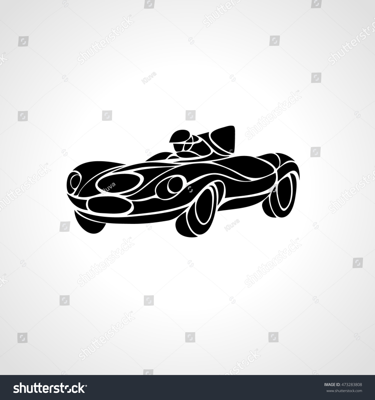 Classic Car Silhouette Vector Retro Stock Photo 473283808 Avopix Com