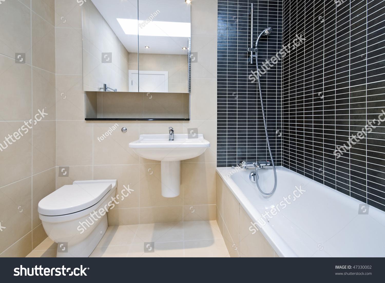 Bathroom Detail Toilet Sink Bath Tub Stock Photo (Edit Now) 47330002 ...