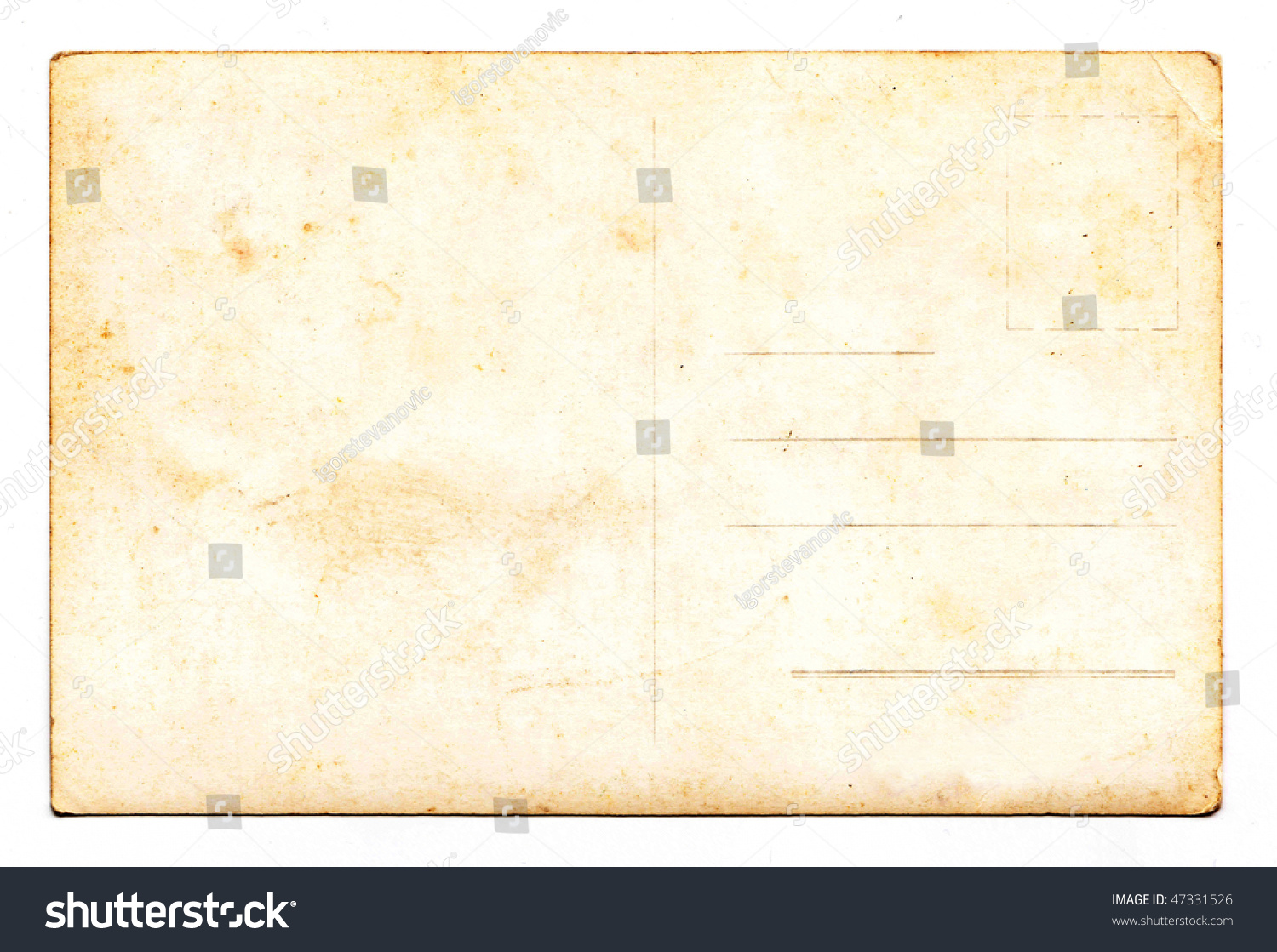 Vintage Postcard Background Paper Texture