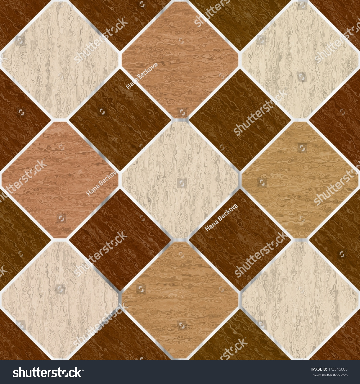 Royalty Free Stock Illustration Of Brown Synthetic Floor Tiles