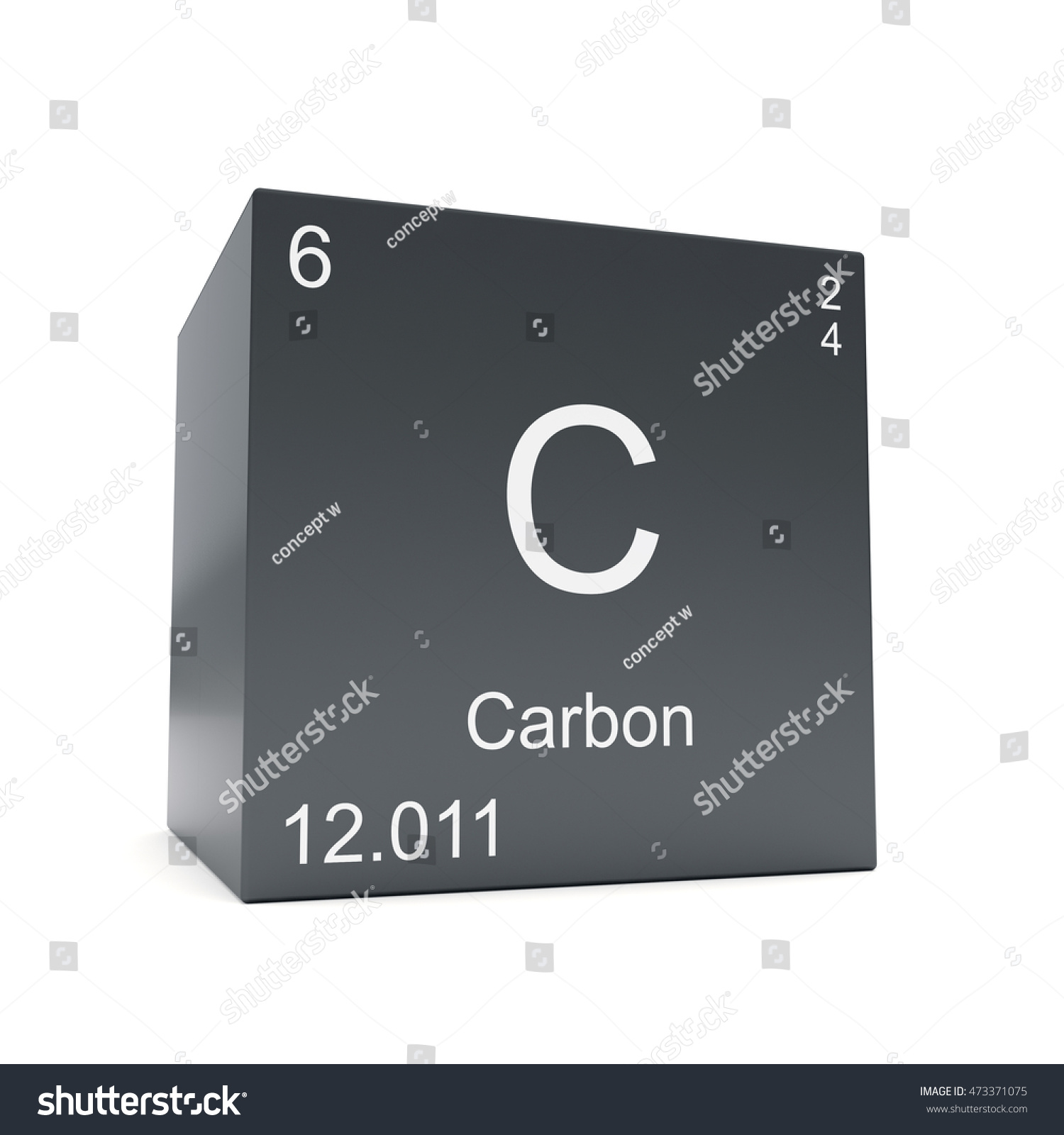 Carbon chemical element symbol periodic table stock illustration carbon chemical element symbol from the periodic table displayed on black cube 3d render gamestrikefo Gallery