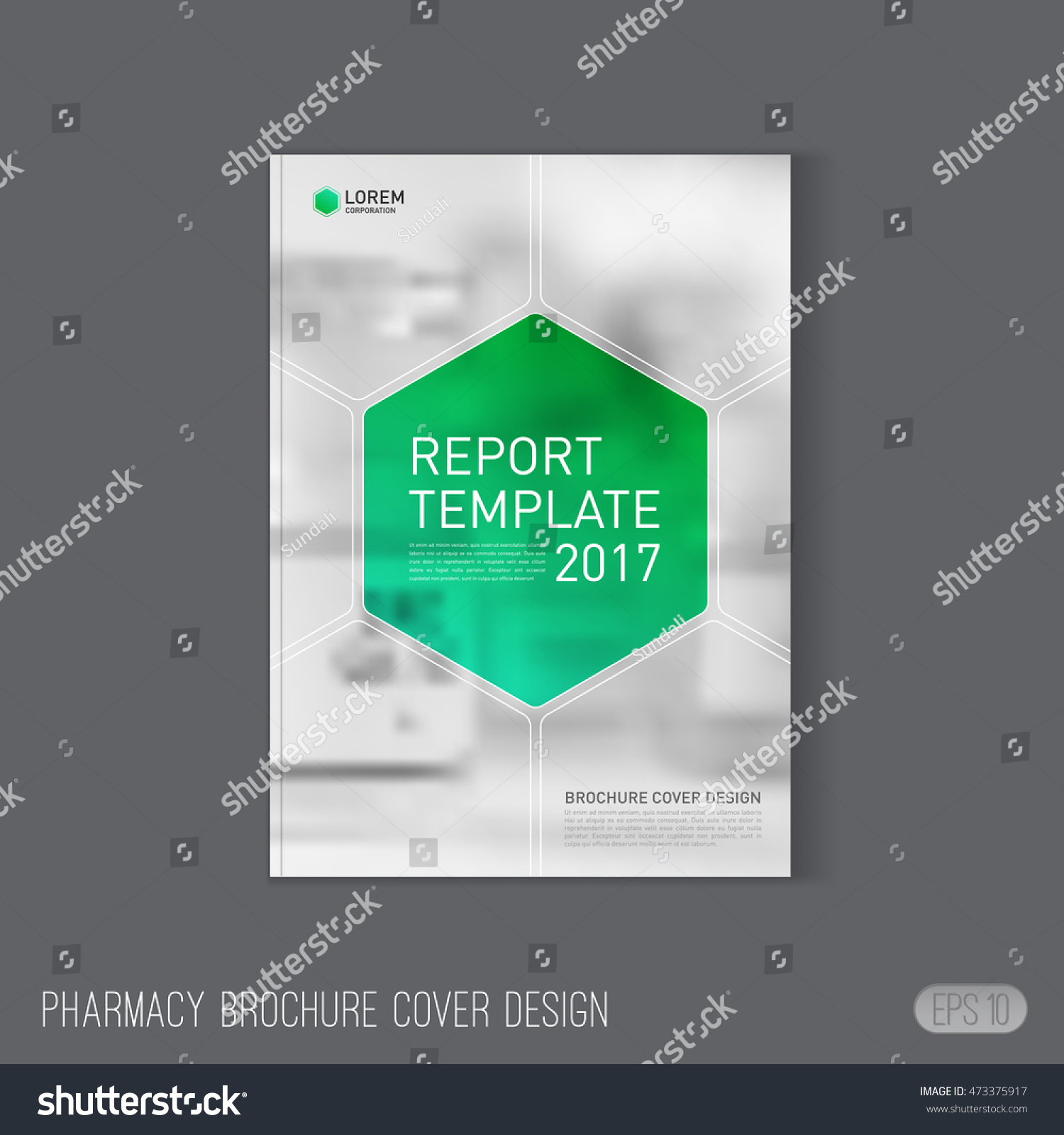 Pharmaceutical Brochure Cover Template Layout Medical Stock Vector