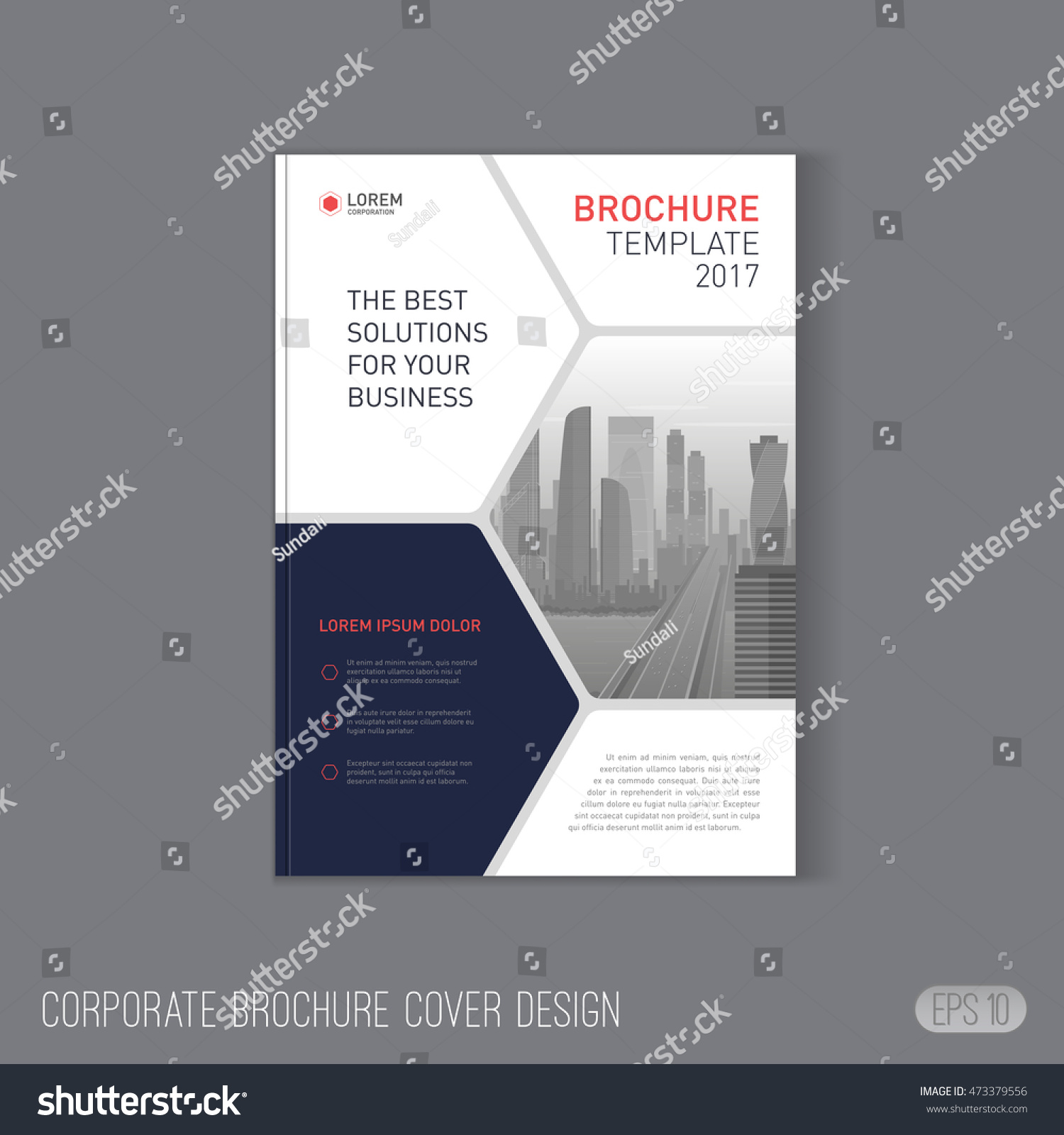 Corporate brochure cover design layout good stock vector for Nice brochure templates