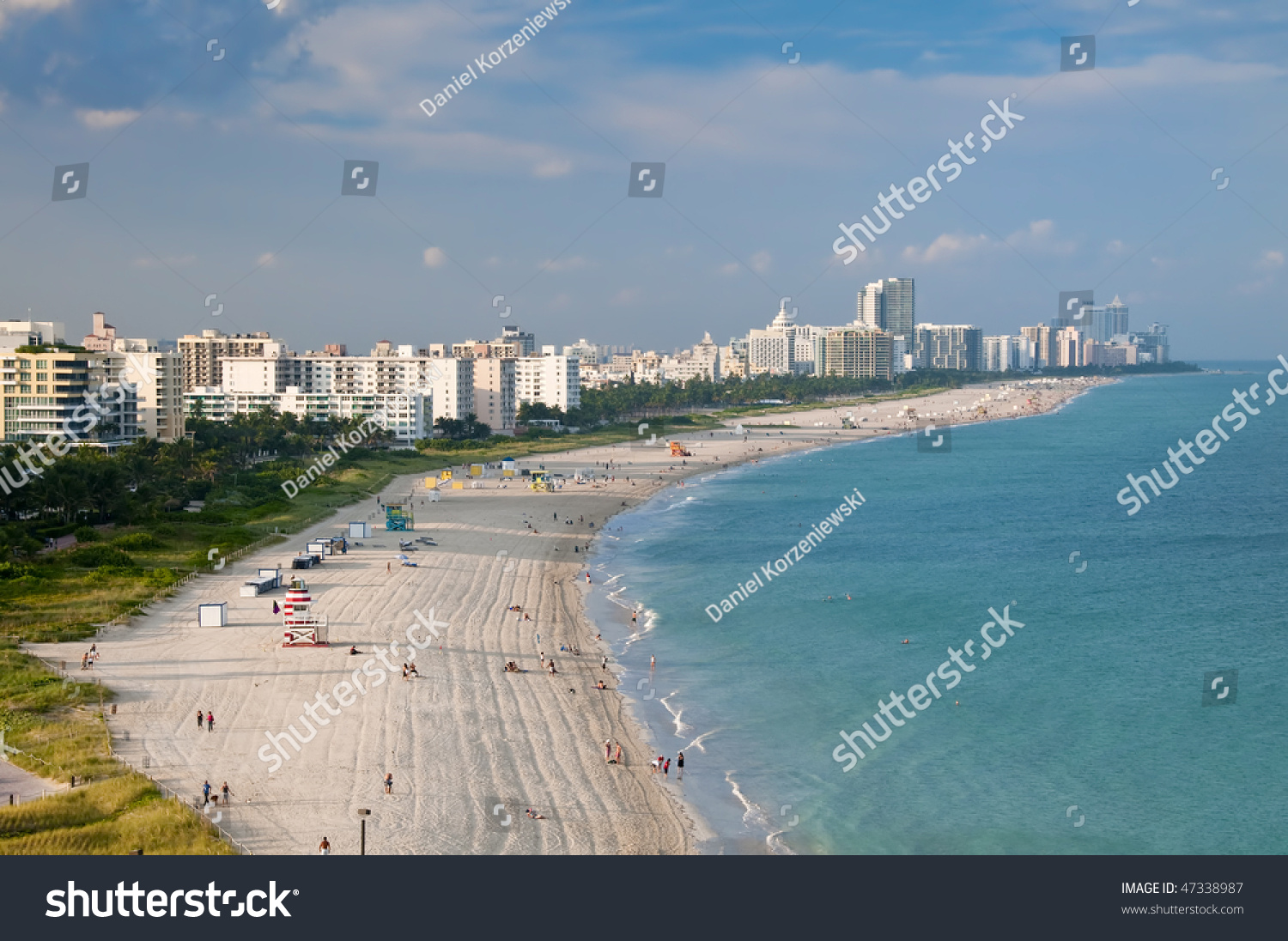 aerial view miami beach condo units stock photo 47338987