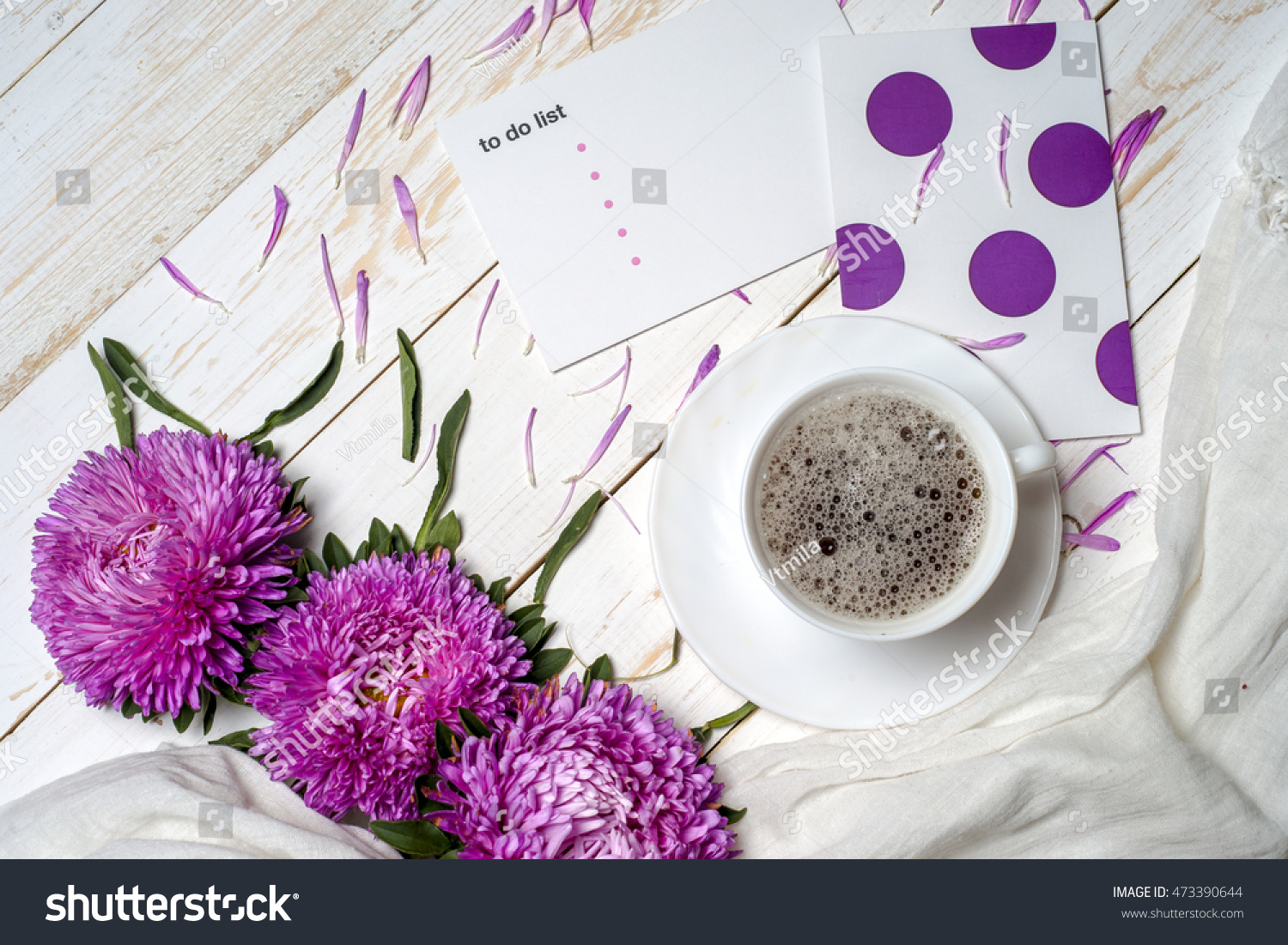 Word Relax Cup Coffee Pink Flowers Stock Photo Edit Now 473390644