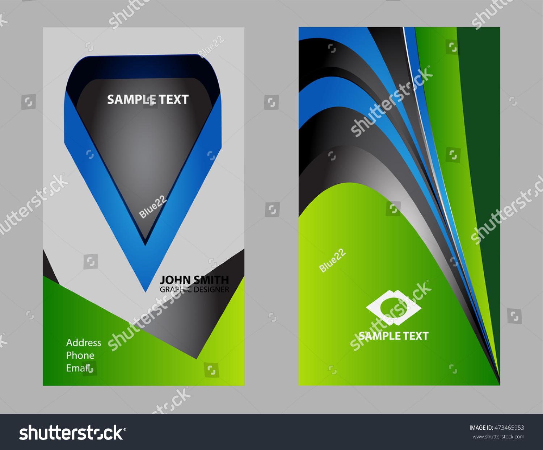 Premium Business Card Design Stock Vector 473465953 - Shutterstock